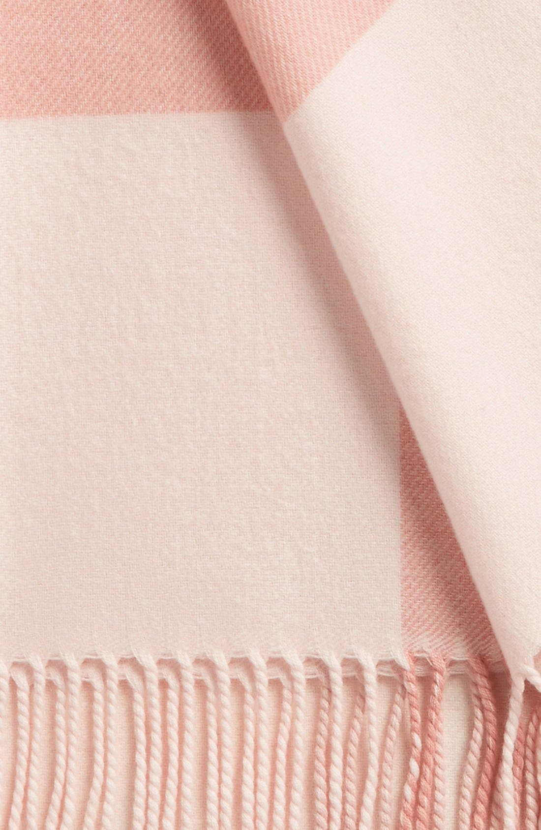 Merino Wool Baby Blanket,                             Alternate thumbnail 2, color,                             Powder Pink