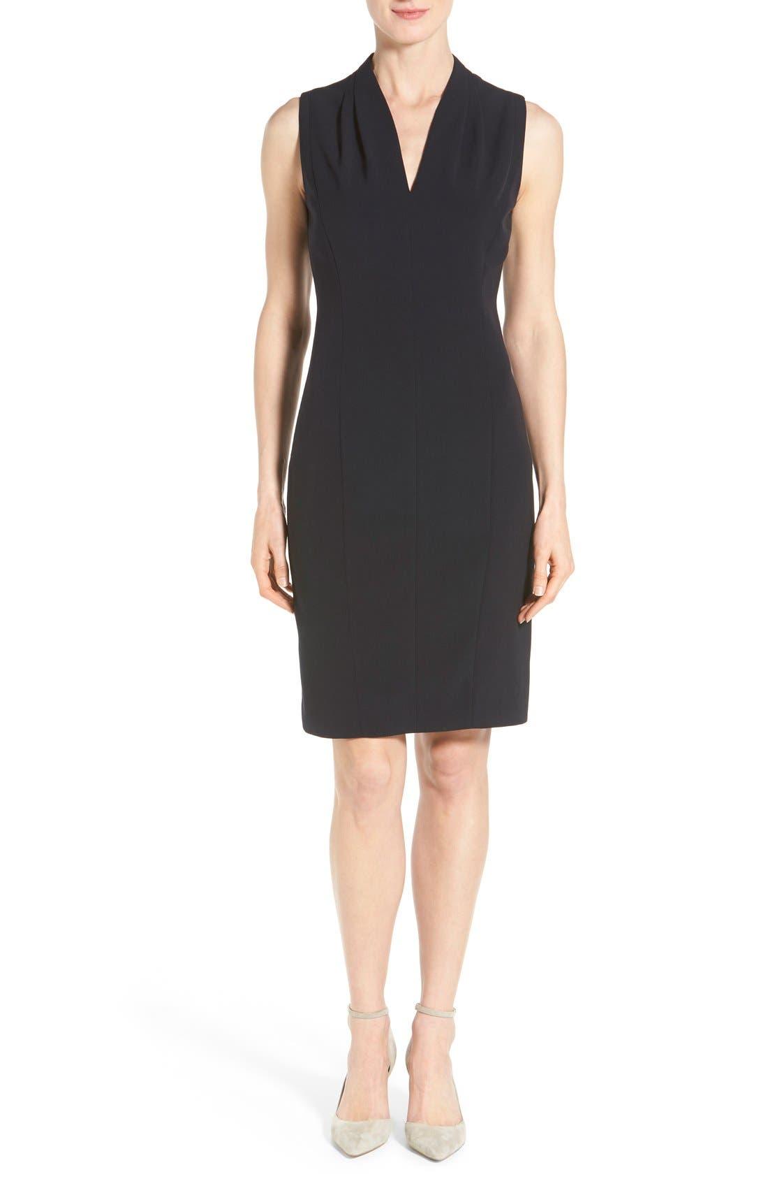 T Tahari 'Tonya' V-Neck Sheath Dress