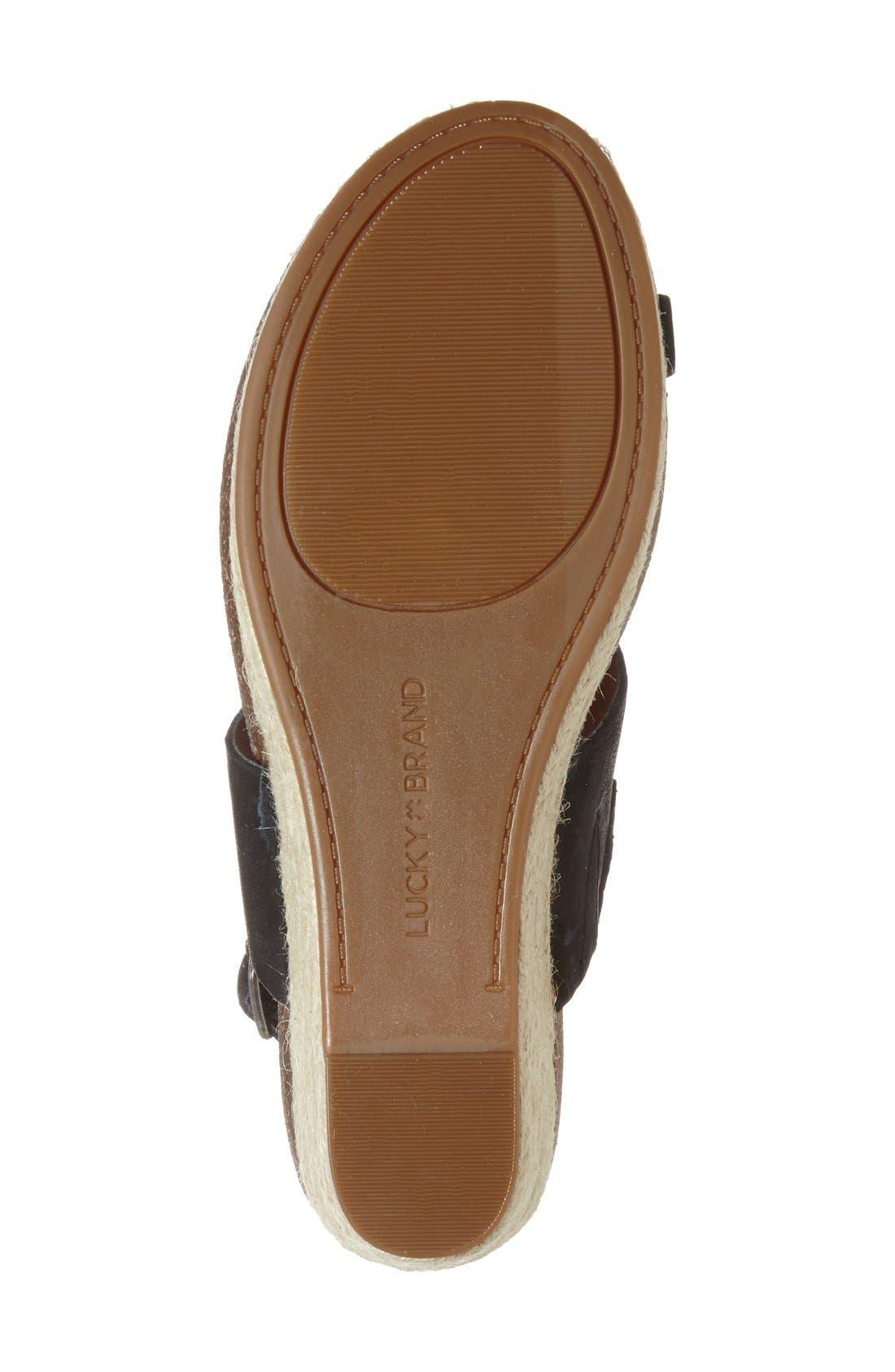 Alternate Image 4  - Lucky Brand 'Janessa' Espadrille Wedge Sandal (Women)
