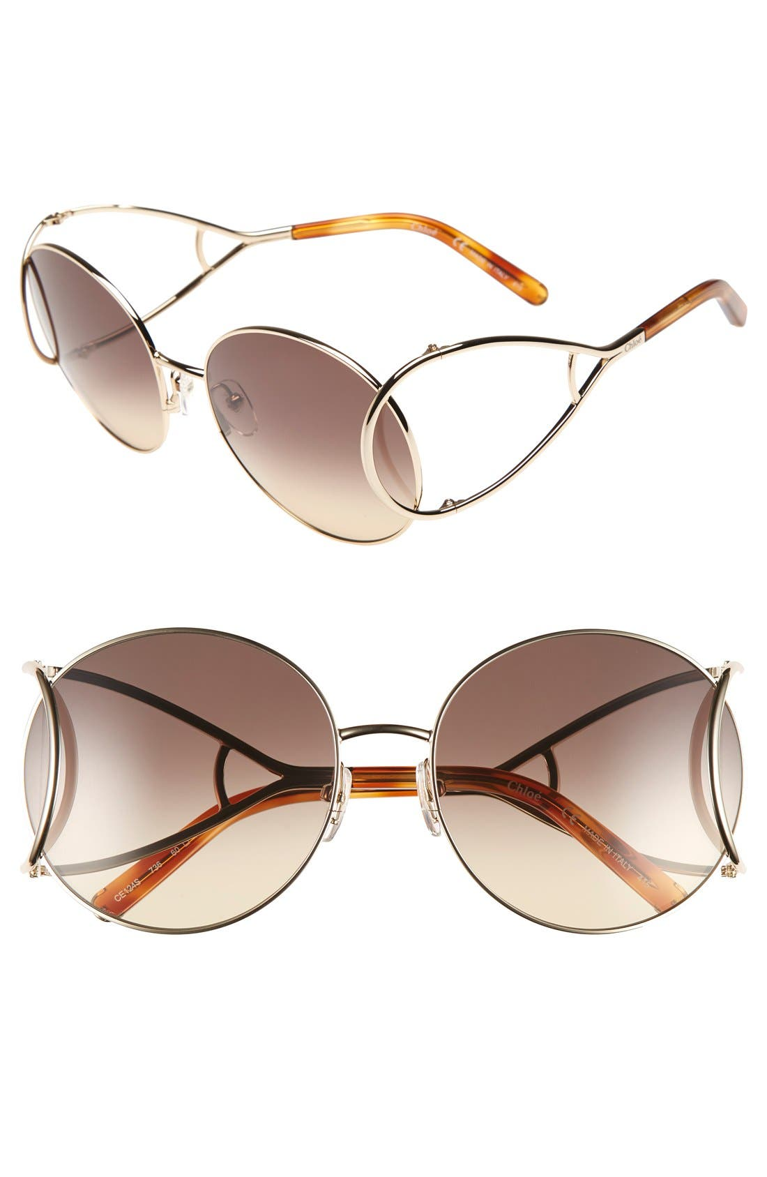 CHLOÉ Jackson 60mm Round Sunglasses