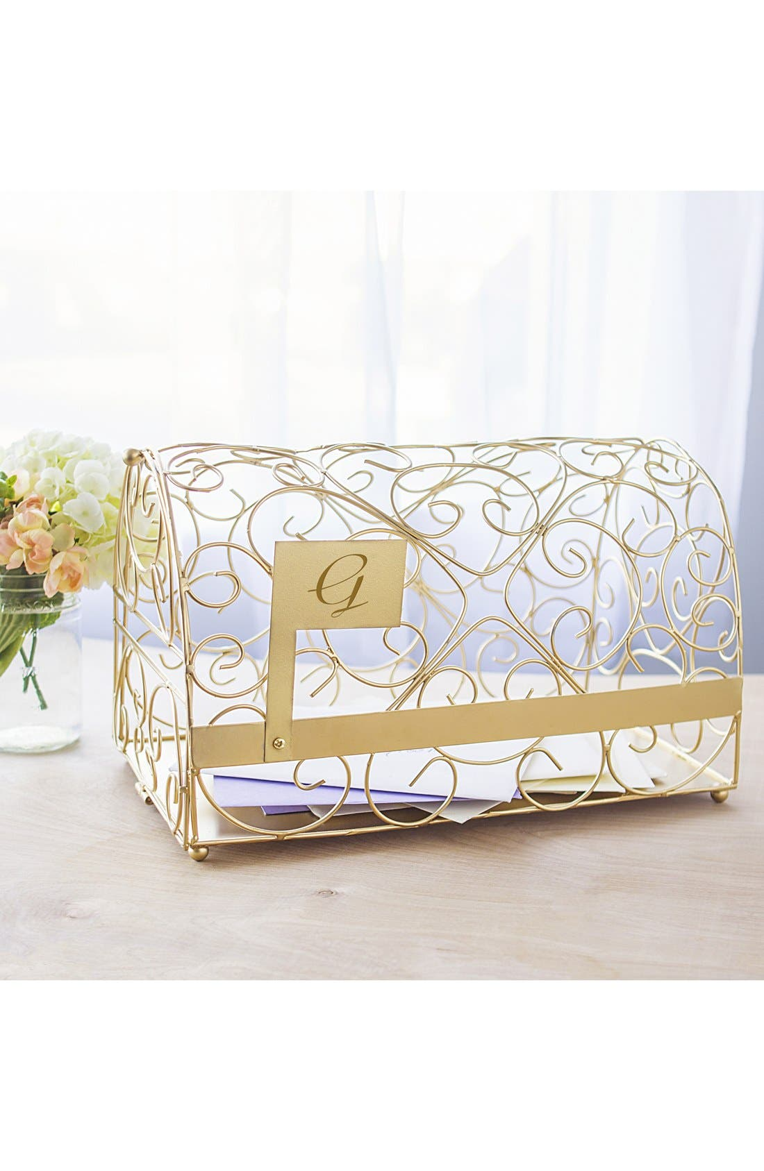 Alternate Image 7  - Cathy's Concepts Monogram Reception Card Holder Mailbox