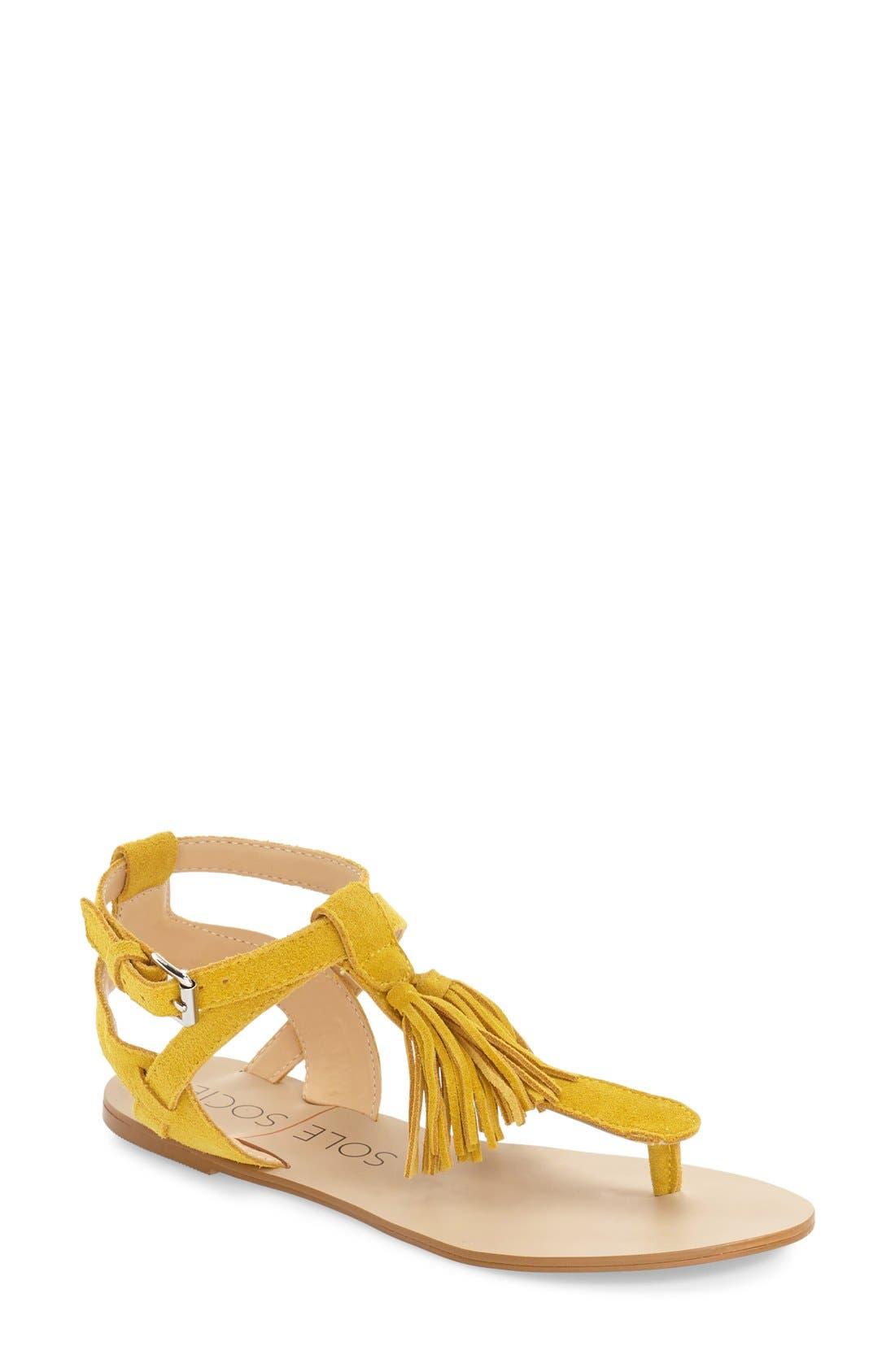 Sole Society 'Pandora' Fringe Sandal (Women)