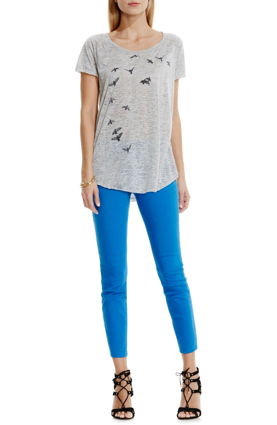 Alternate Image 2  - Two by Vince Camuto 'In Flight' Burnout Tee