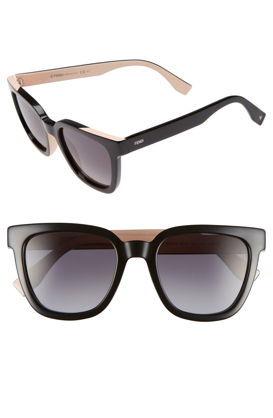 Alternate Image 1 Selected - Fendi 51mm Sunglasses