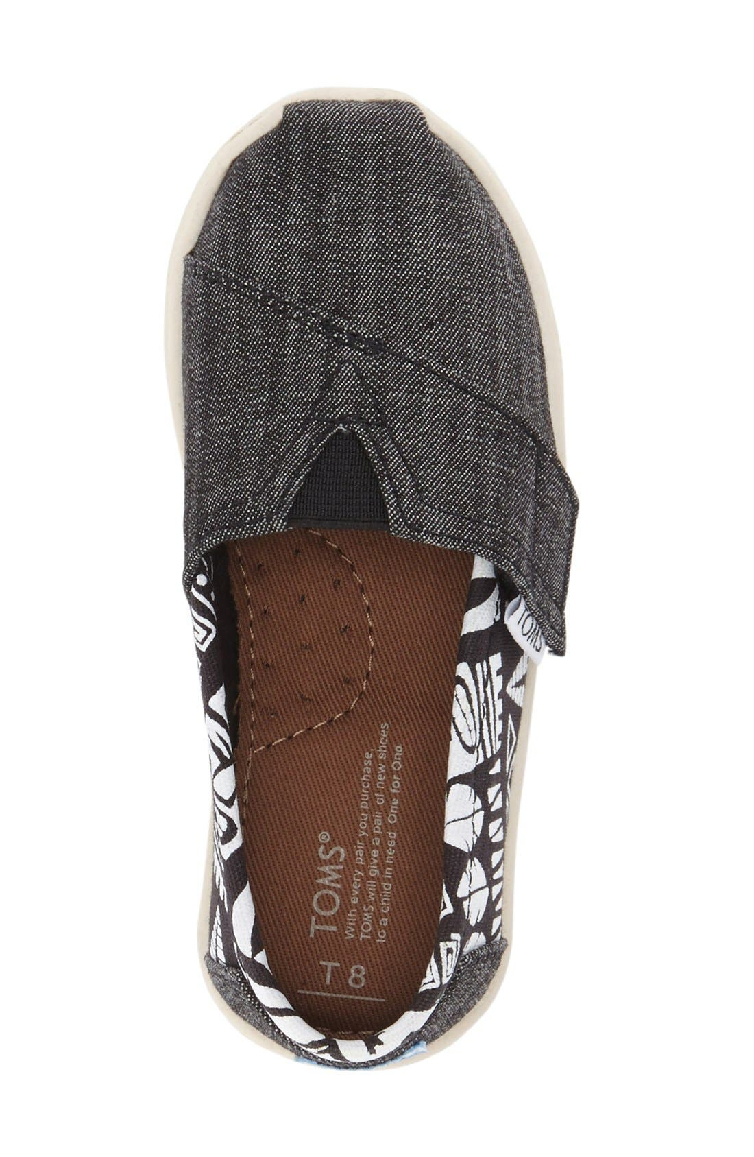 'Tiki' Canvas Slip-On,                             Alternate thumbnail 3, color,                             Black