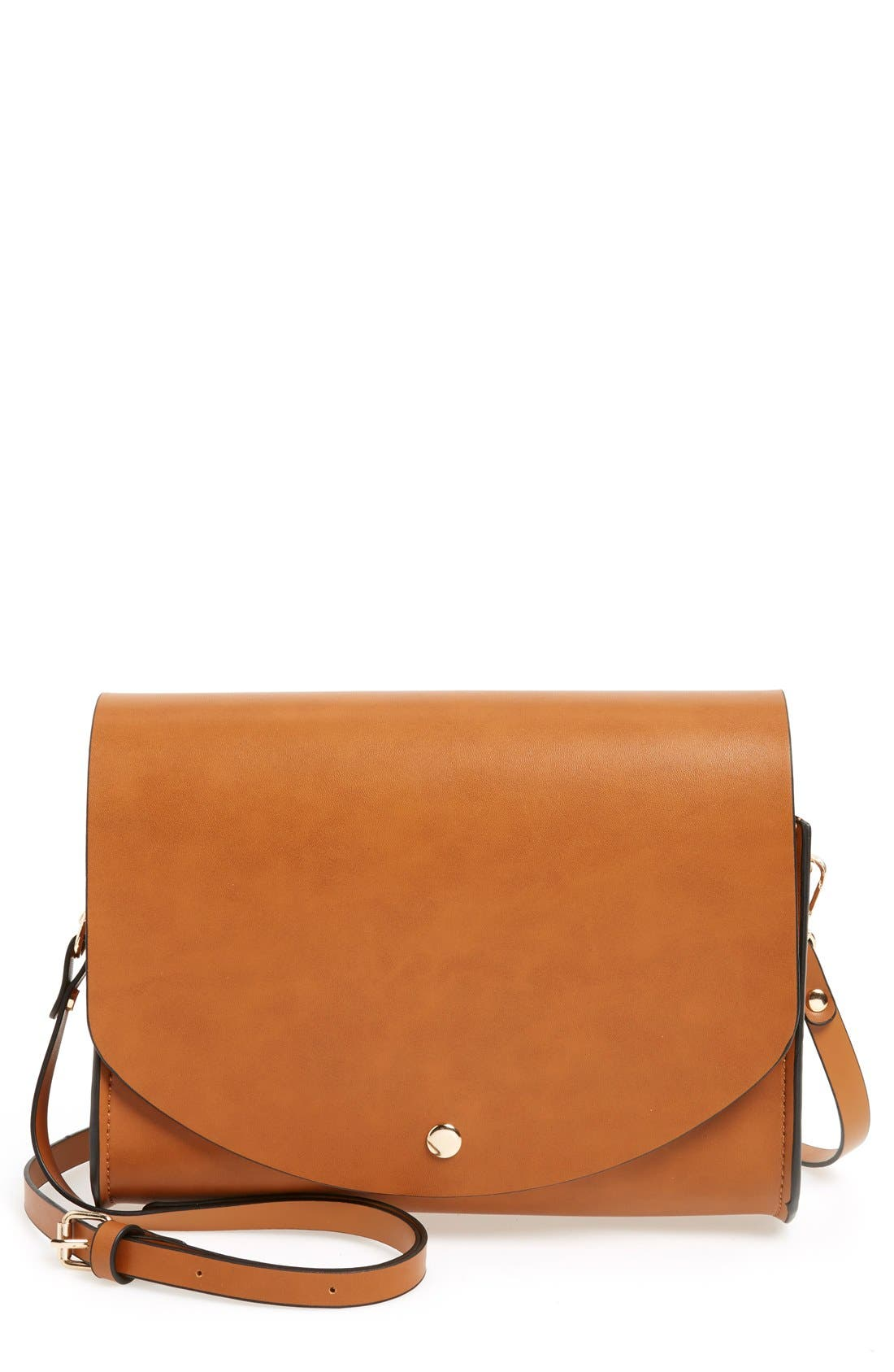 Alternate Image 1 Selected - Cesca Faux Leather Crossbody Bag