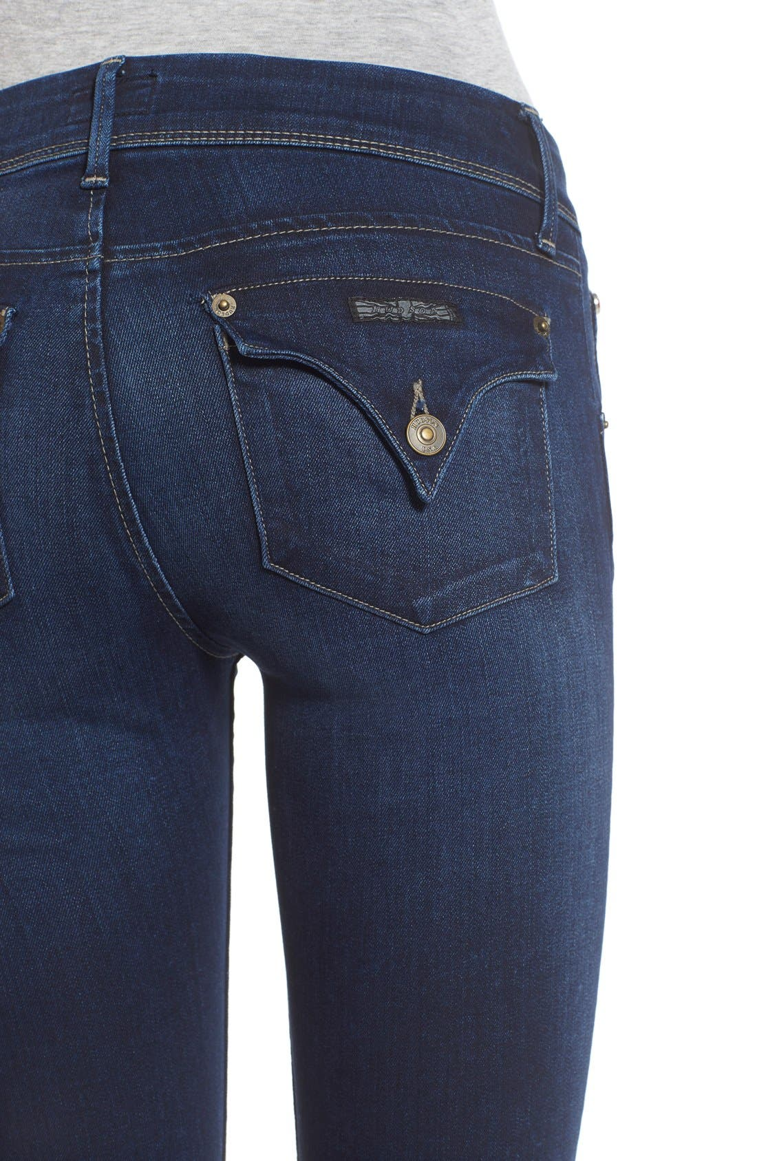 'Elysian - Collin' Mid Rise Skinny Jeans,                             Alternate thumbnail 4, color,                             Crest Falls