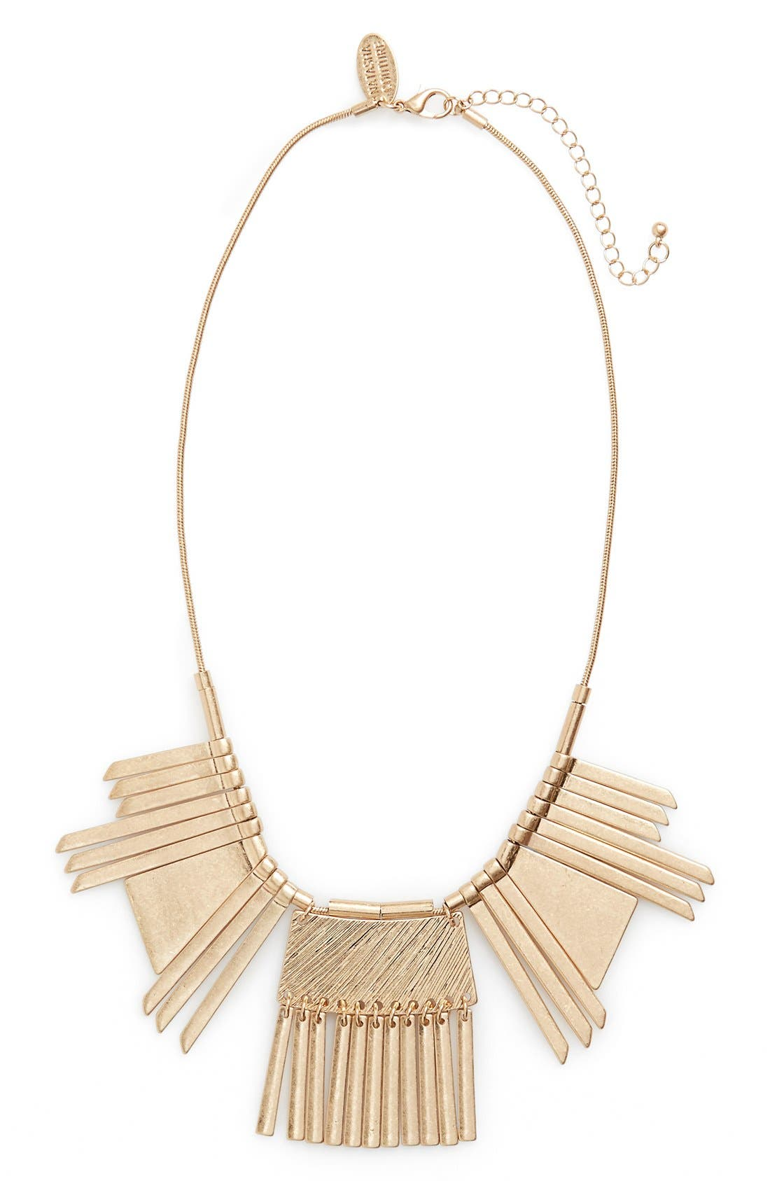 Couture Statement Necklace,                         Main,                         color, Gold