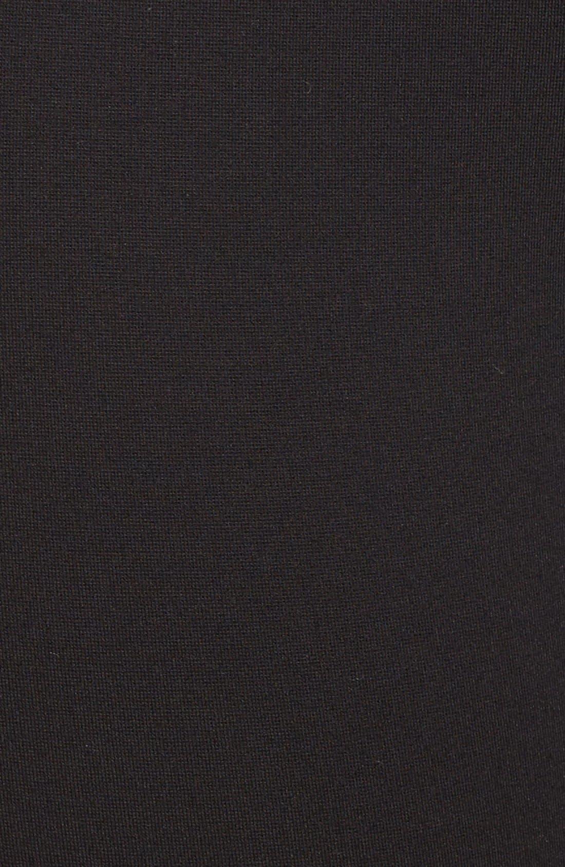 Seam Detail Crop Ponte Leggings,                             Alternate thumbnail 8, color,                             Black