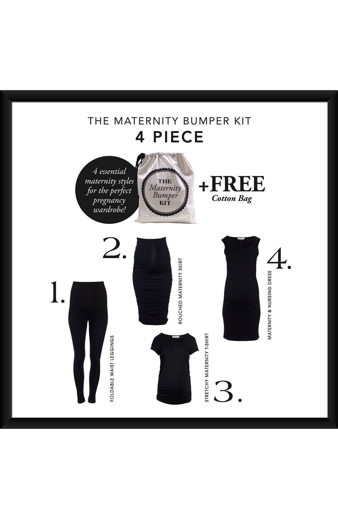 The Bumper Essential 4-Piece Maternity Starter Kit,                             Alternate thumbnail 2, color,                             Black