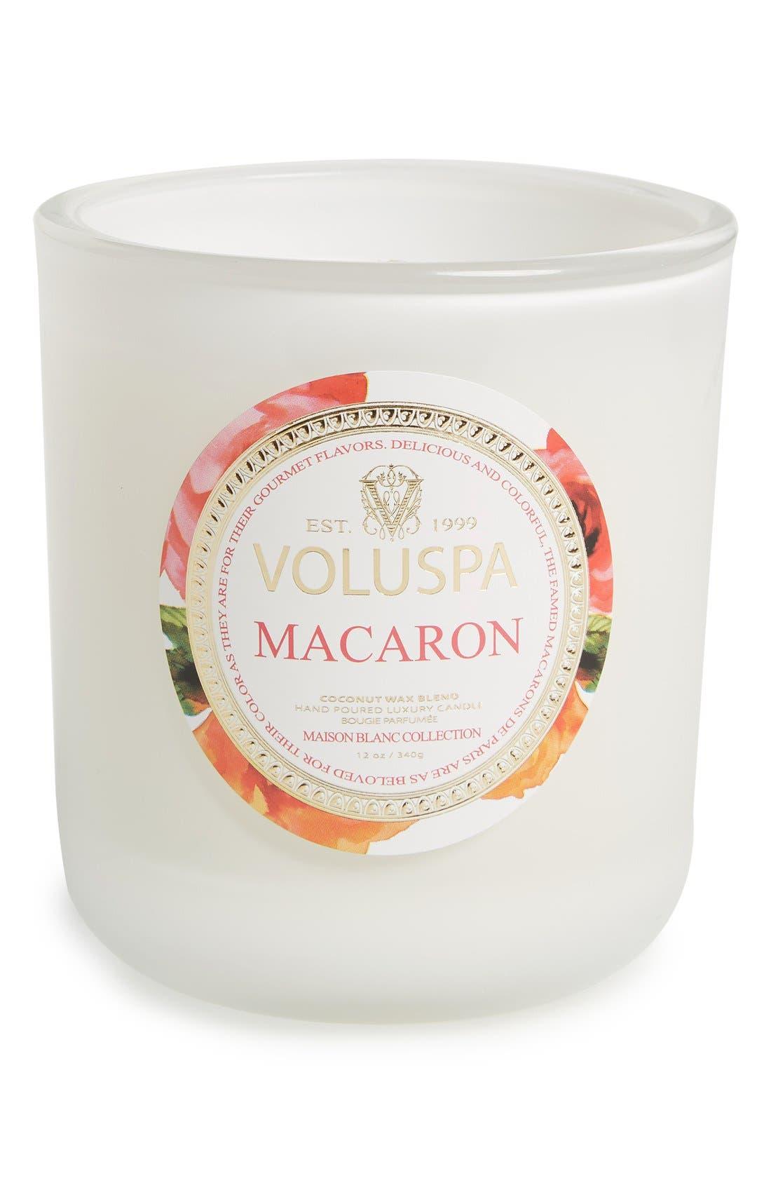 Main Image - Voluspa 'Maison Blanc - Macaron' Boxed Candle