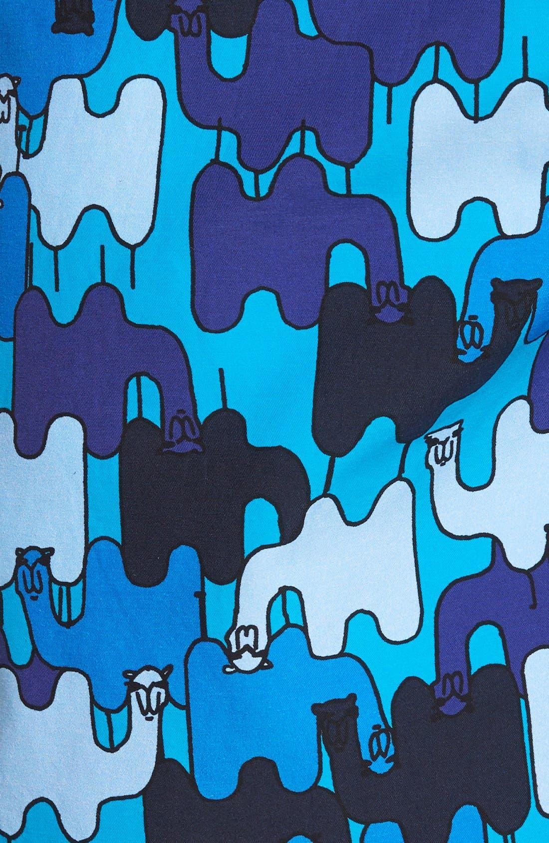 'Moorea - Camels' Print Swim Trunks,                             Alternate thumbnail 5, color,                             Swimming Pool