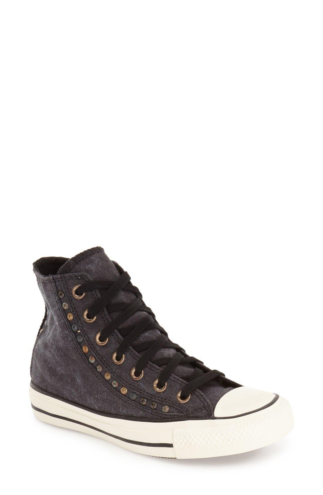 Alternate Image 1 Selected - Converse Chuck Taylor® All Star® 'Eyerow' Studded High Top Sneaker (Women)