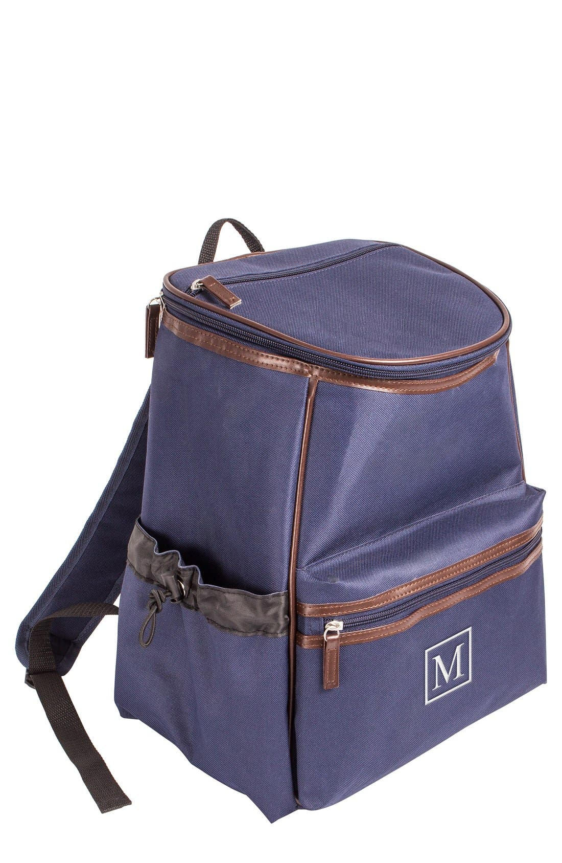 Monogram Insulated Backpack Cooler,                             Main thumbnail 1, color,                             Navy - M