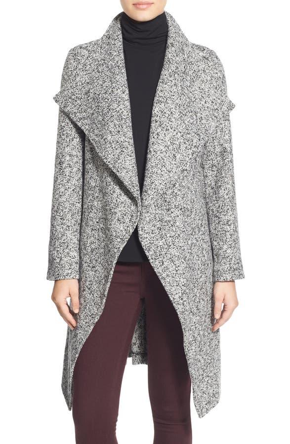 bebe Tweed Wrap Coat | Nordstrom