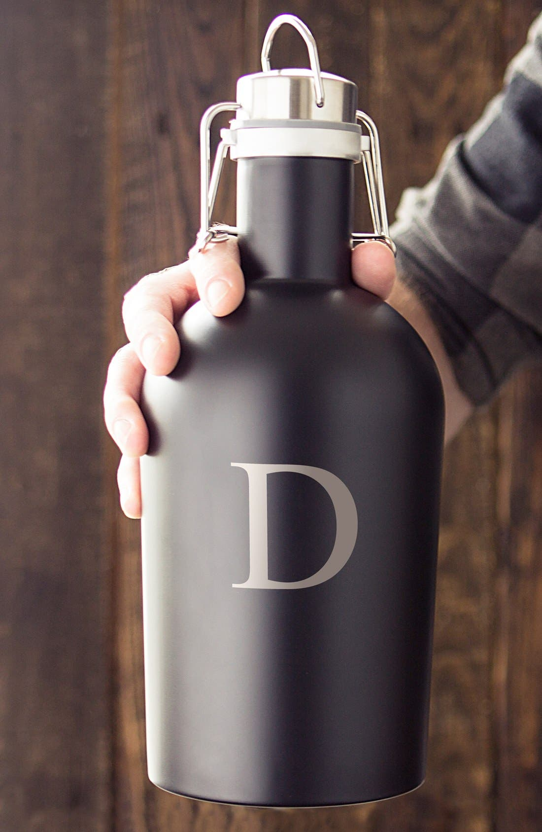 Alternate Image 4  - Cathy's Concepts Monogram Stainless Steel Growler