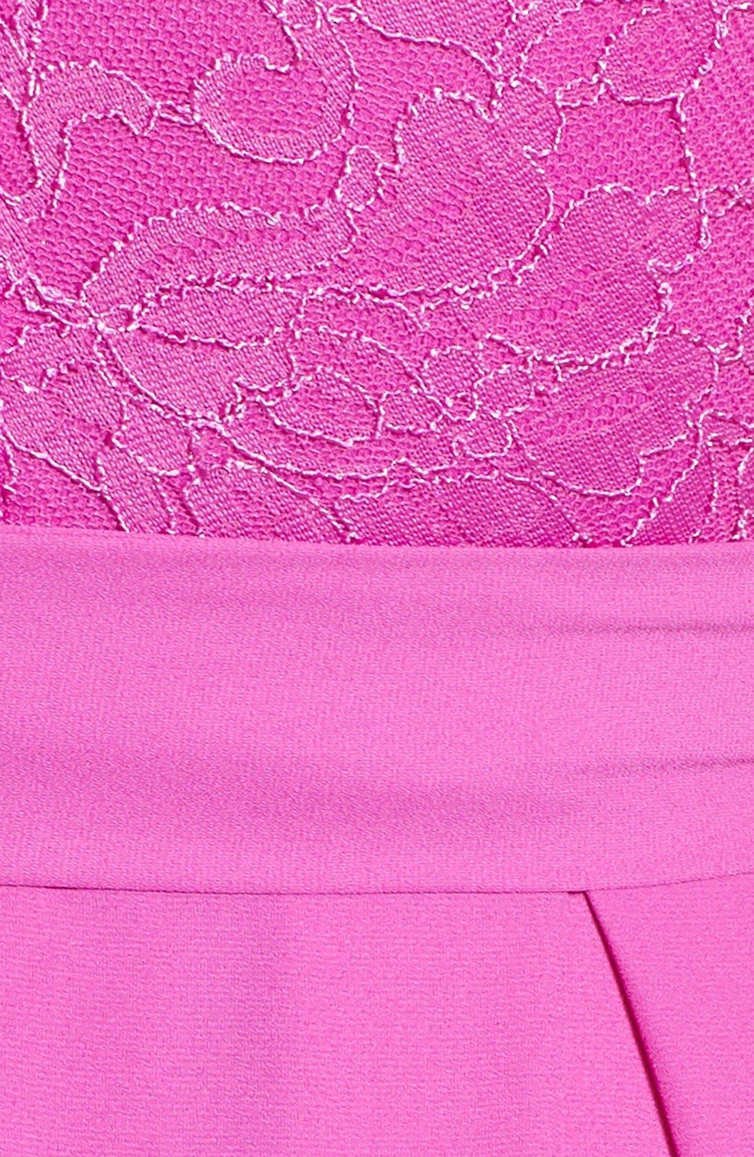 Alternate Image 5  - Bee Darlin Lace Bodice Skater Dress