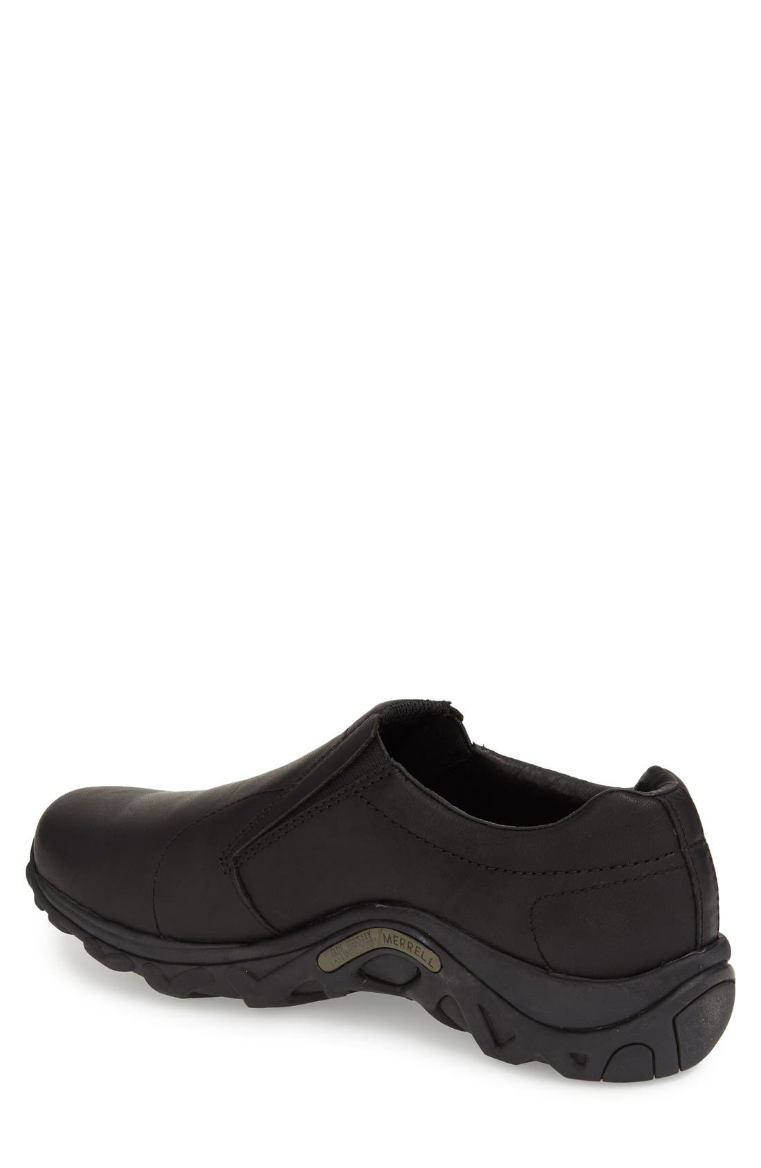 'Jungle Moc' Leather Athletic Slip-On,                             Alternate thumbnail 2, color,                             Black