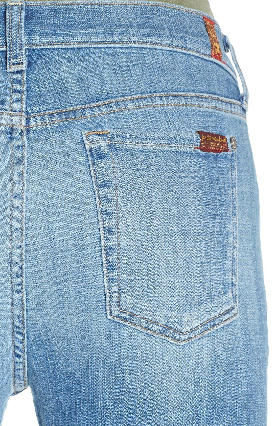 Alternate Image 4  - 7 For All Mankind® 'Josefina' Relaxed Skinny Jeans (Medium Broken Twill)