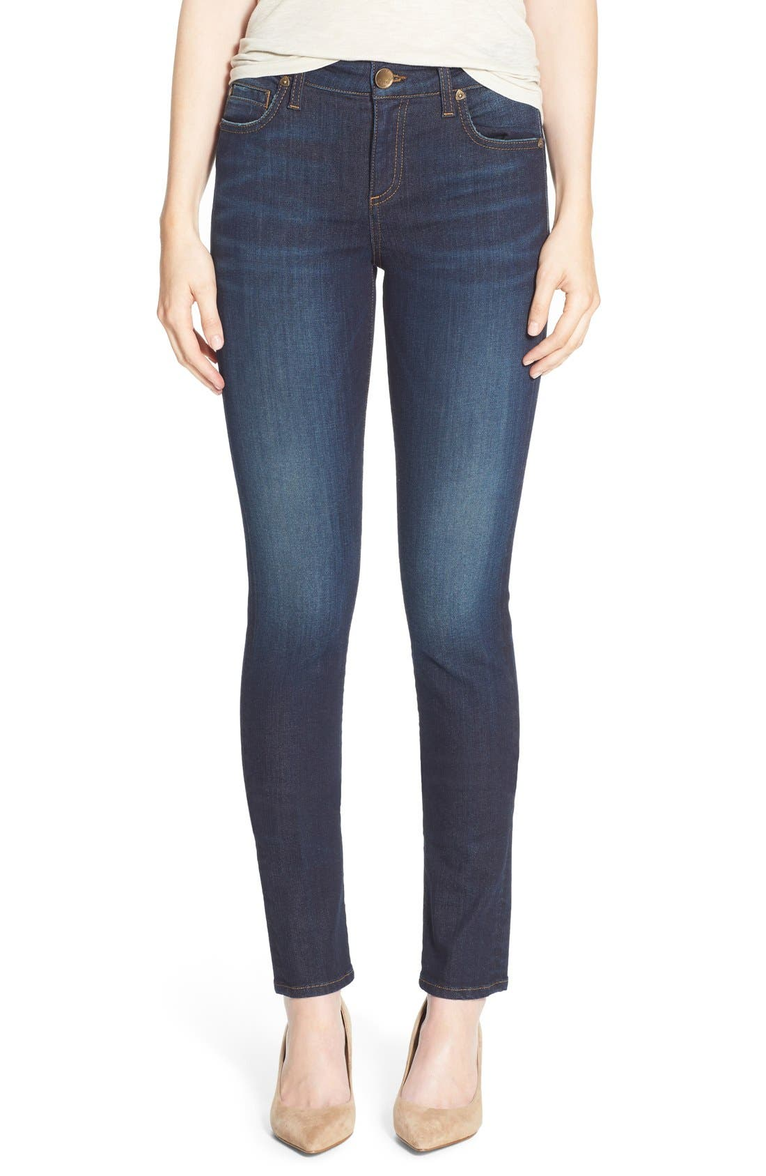 Main Image - KUT from the Kloth 'Diana' Stretch Skinny Jeans (Blinding) (Regular & Petite)