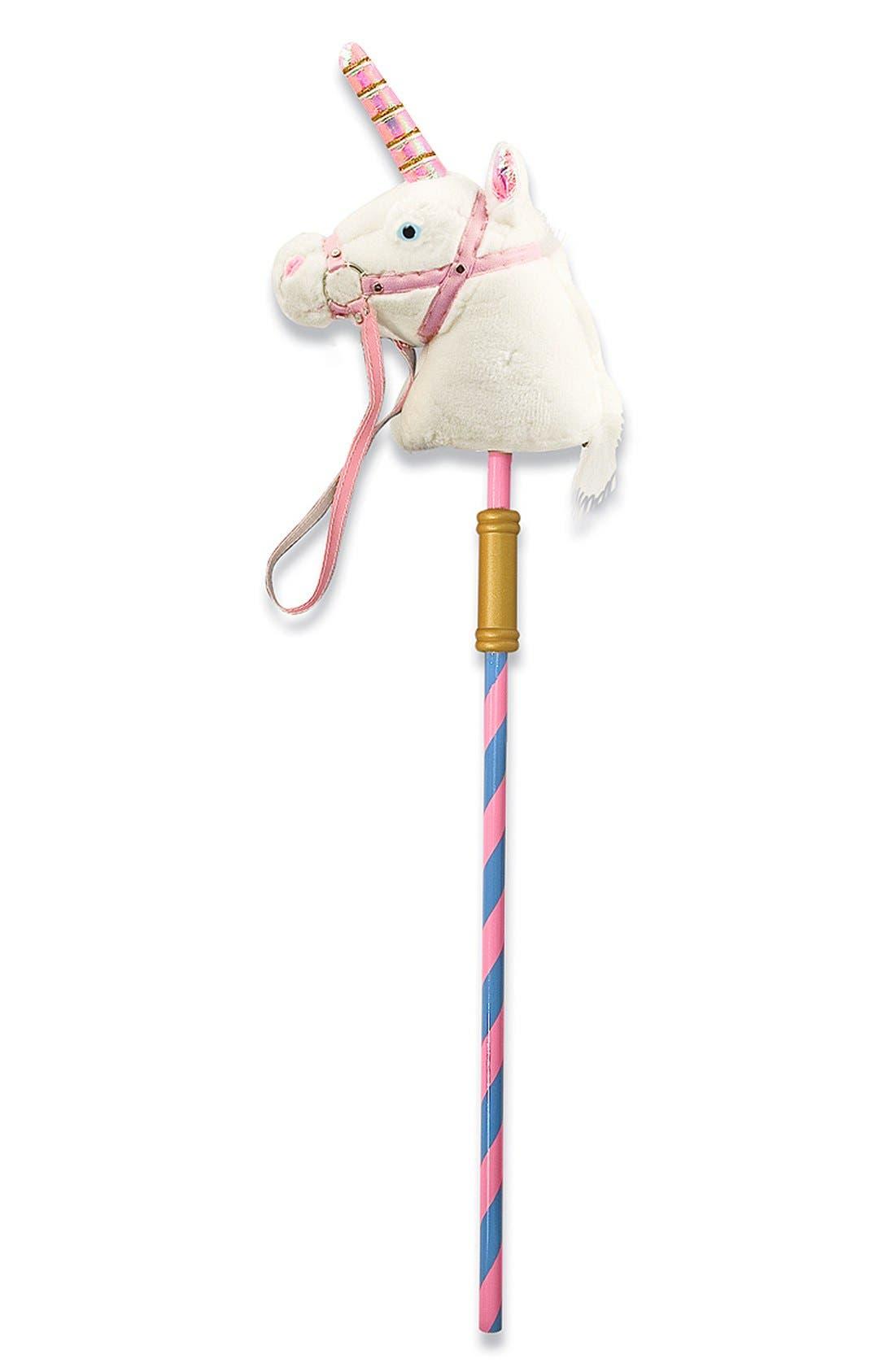 'Prance-n-Play' Stick Unicorn,                             Main thumbnail 1, color,                             Pink