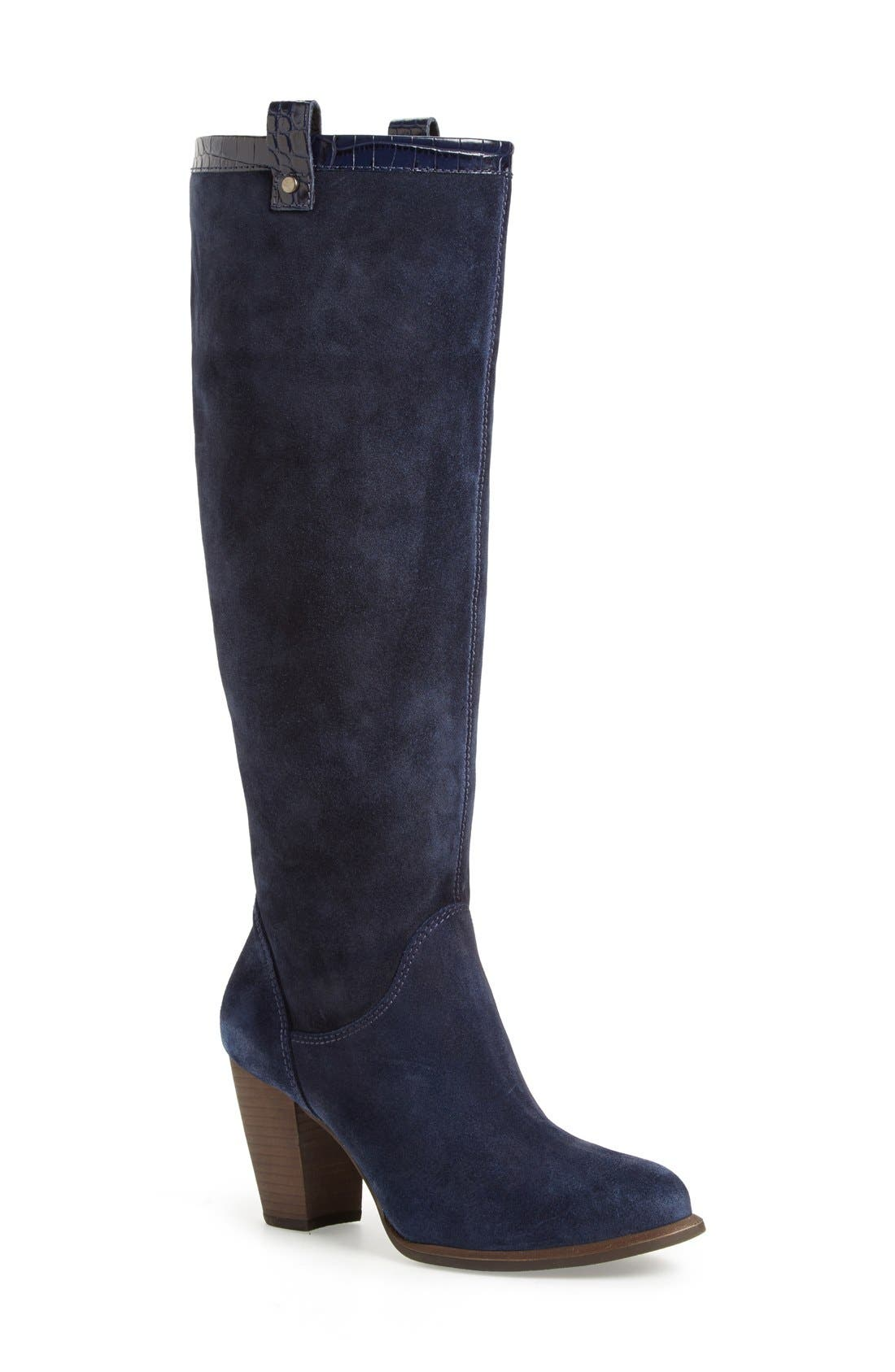 Alternate Image 1 Selected - UGG® 'Ava Croco' Tall Suede Boot (Women)