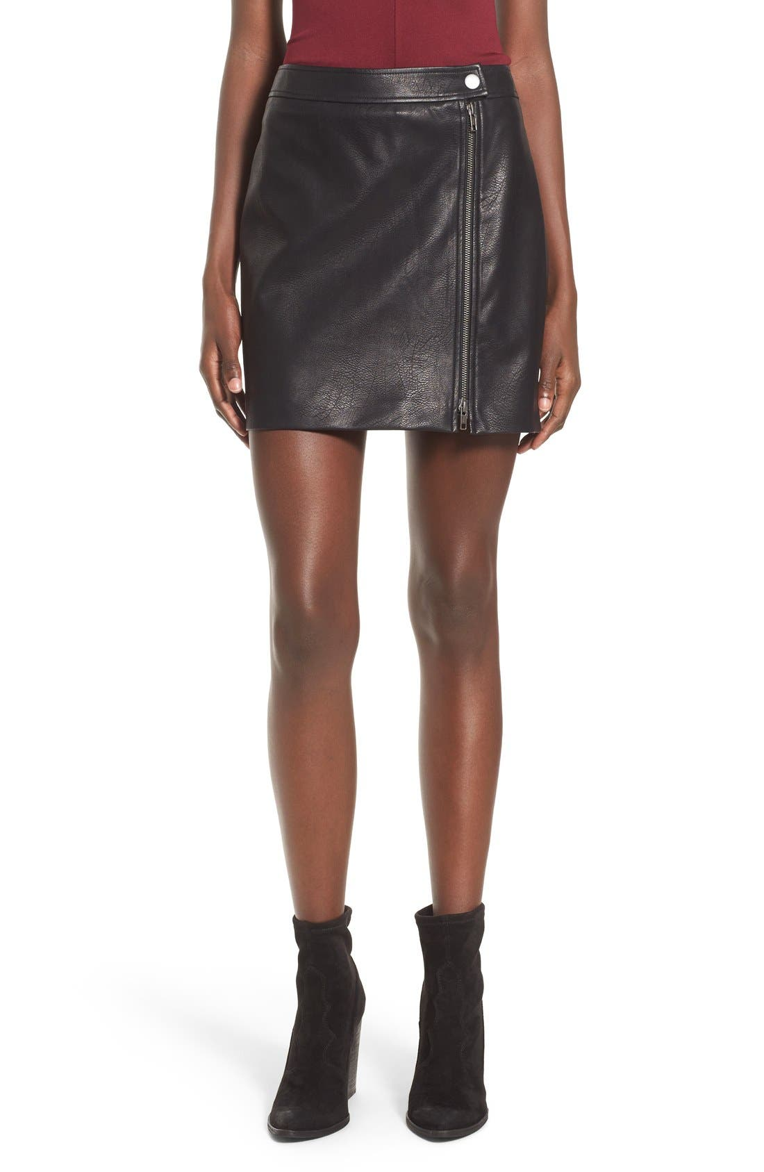 Alternate Image 1 Selected - Leith Faux Leather Skirt