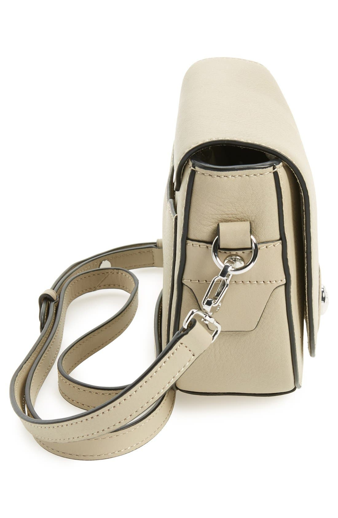 Alternate Image 5  - rag & bone 'Mini Flight' Leather Crossbody Saddle Bag