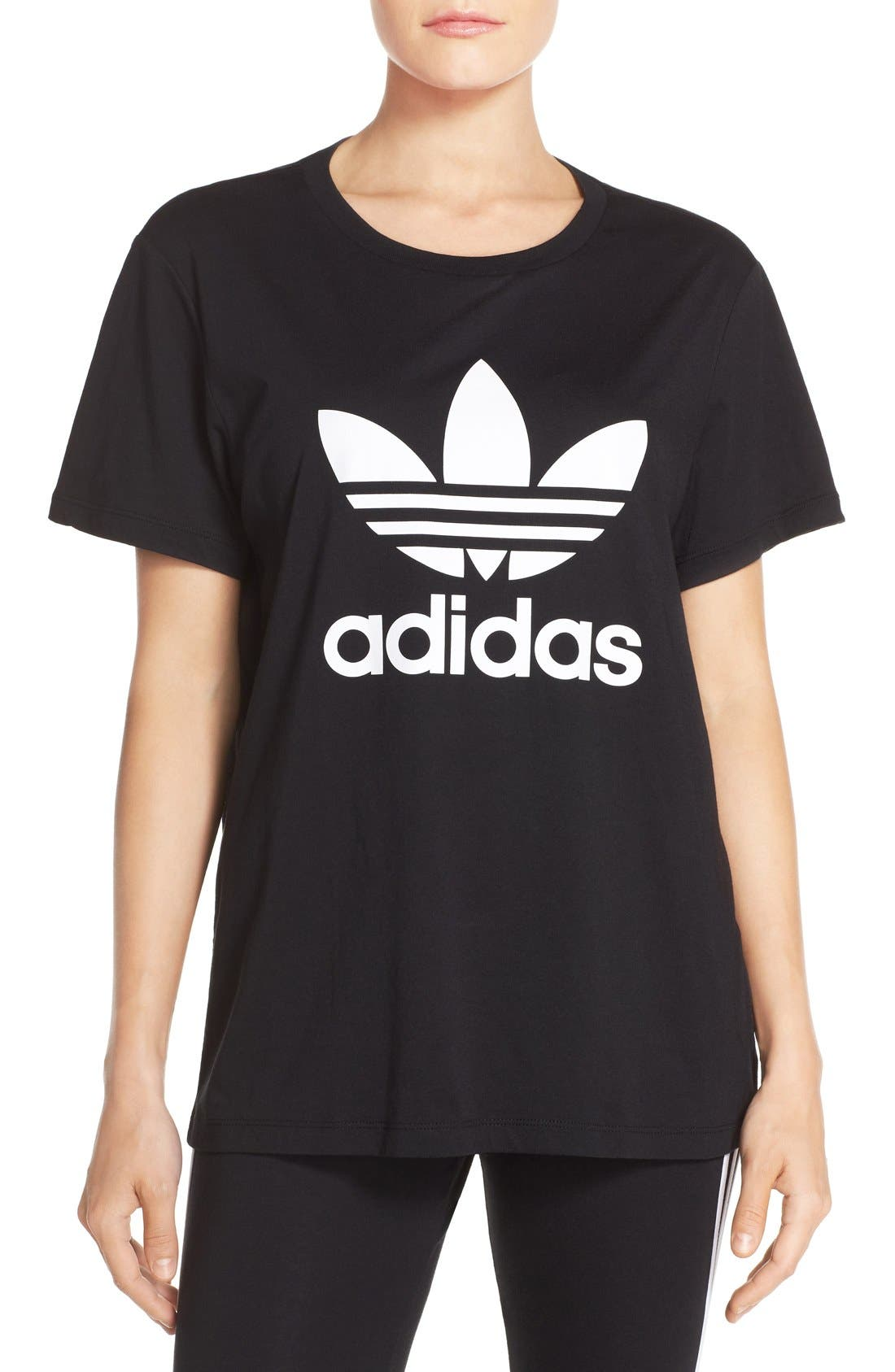 Originals Boyfriend Tee,                         Main,                         color, Black/ White