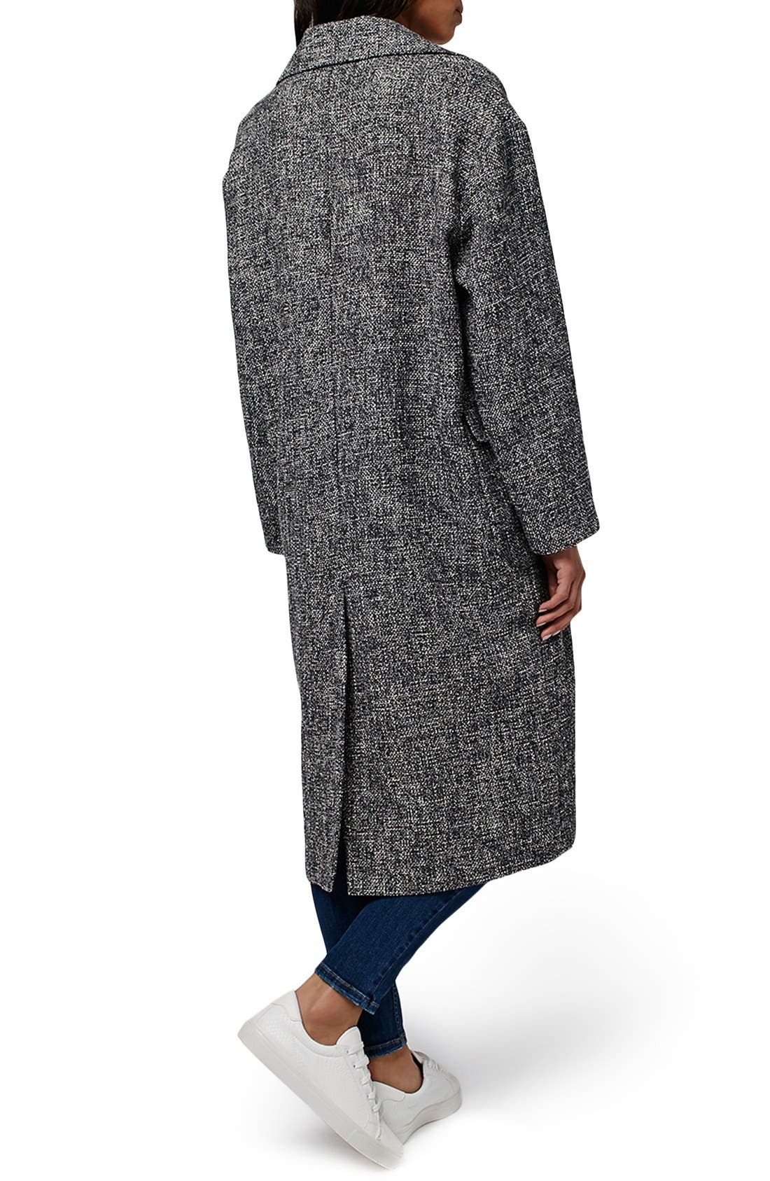 Alternate Image 3  - Topshop Textured Slouchy Coat