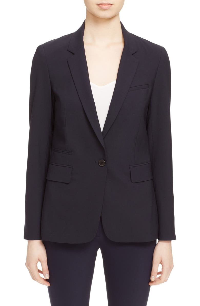 Classic Lambswool Blend Single Button Blazer