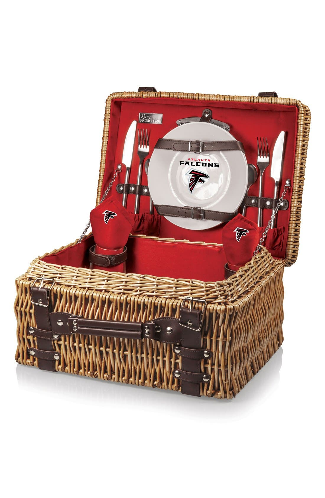 Alternate Image 2  - Picnic Time 'NFL - Champion' Wicker Picnic Basket