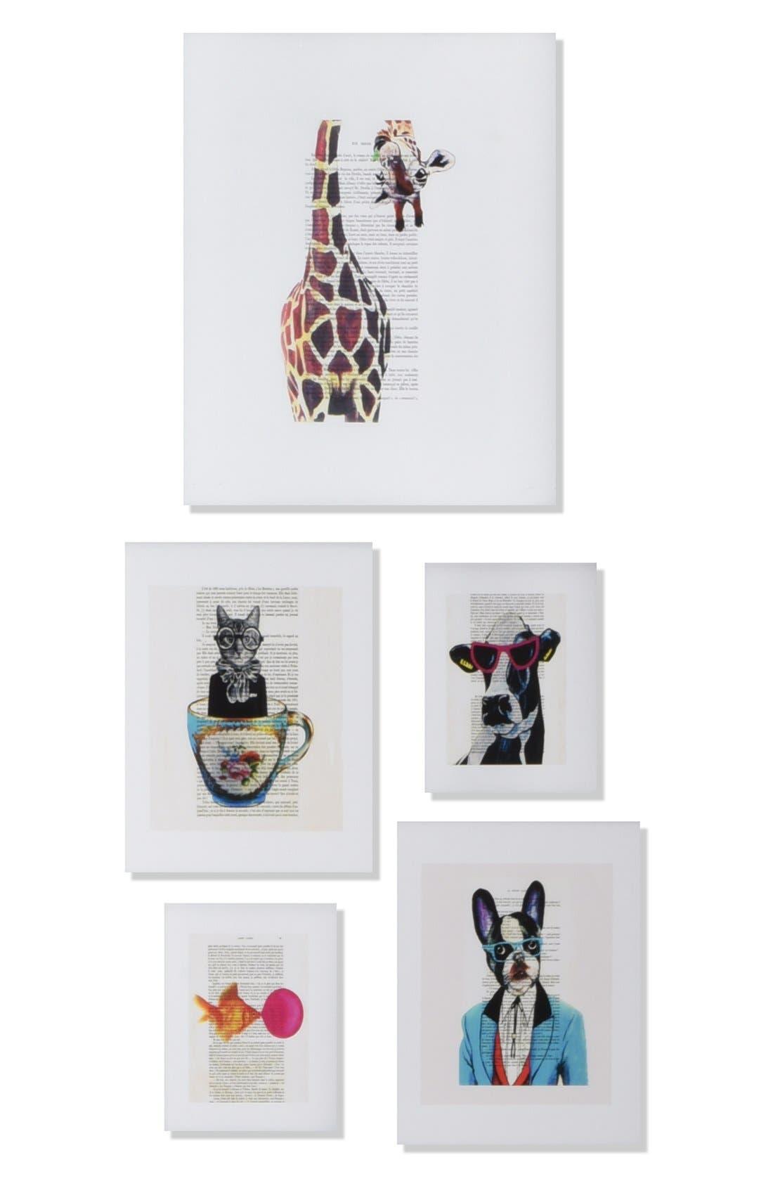 Alternate Image 1 Selected - Deny Designs 'Coco De Paris - Funny' Wall Art Gallery (Set of 5)