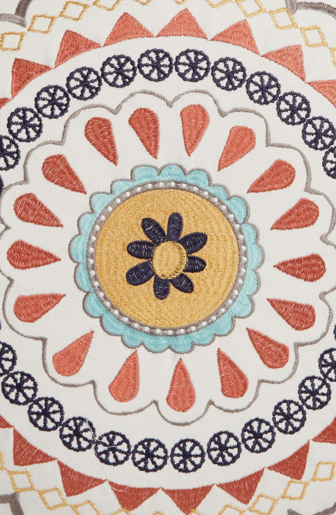 Alternate Image 3  - Levtex Embroidered Round Pillow