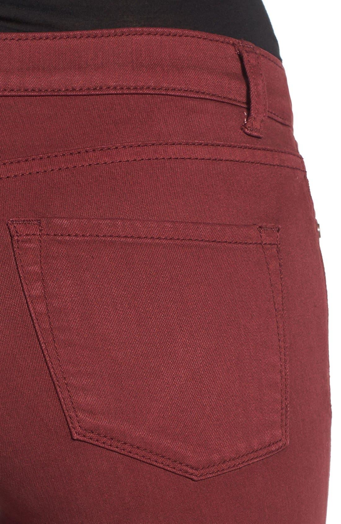 Alternate Image 4  - Caslon® Colored Stretch Skinny Jeans