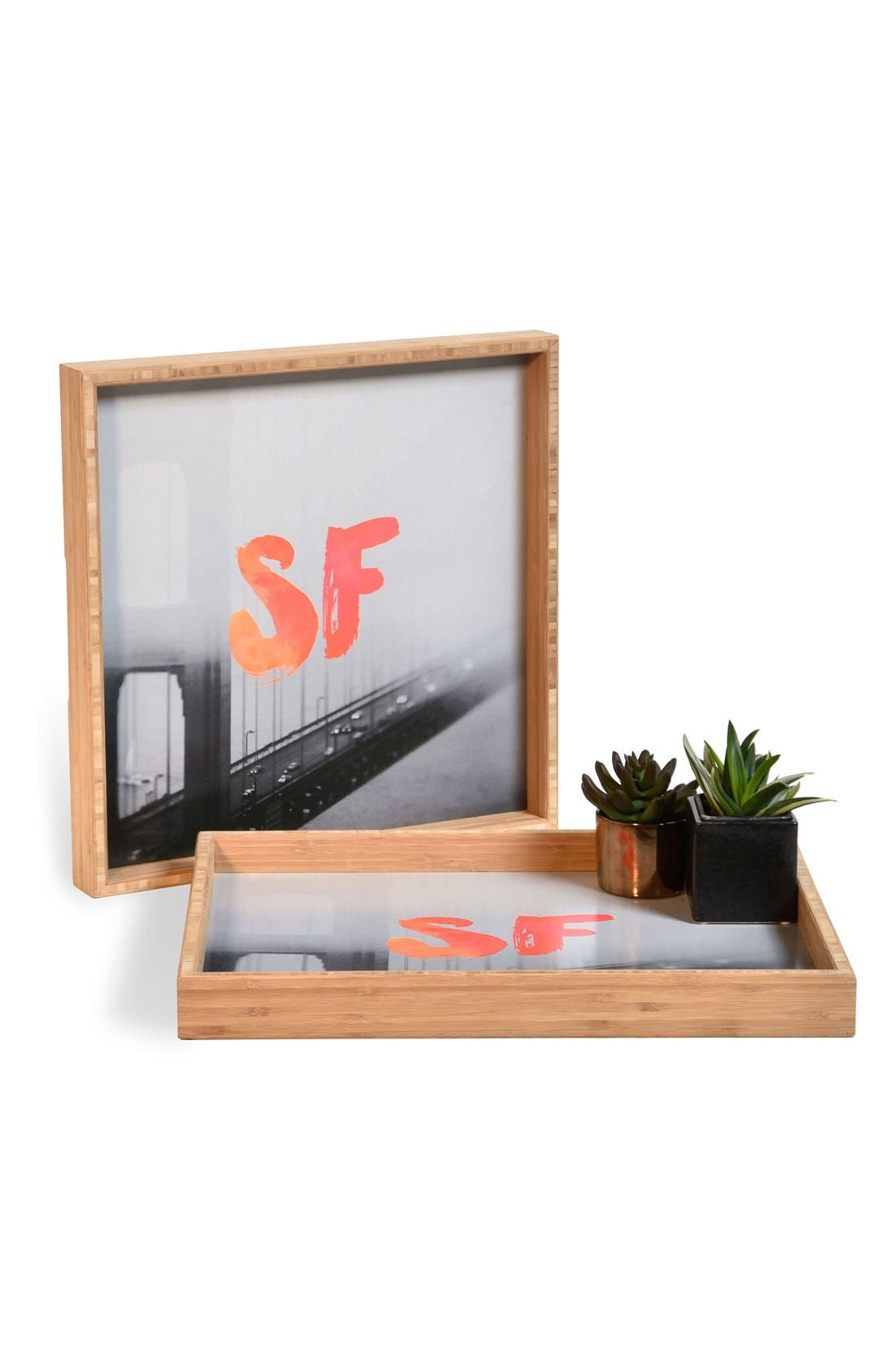 DENY Designs 'Golden Gate Noir' Decorative Serving Tray