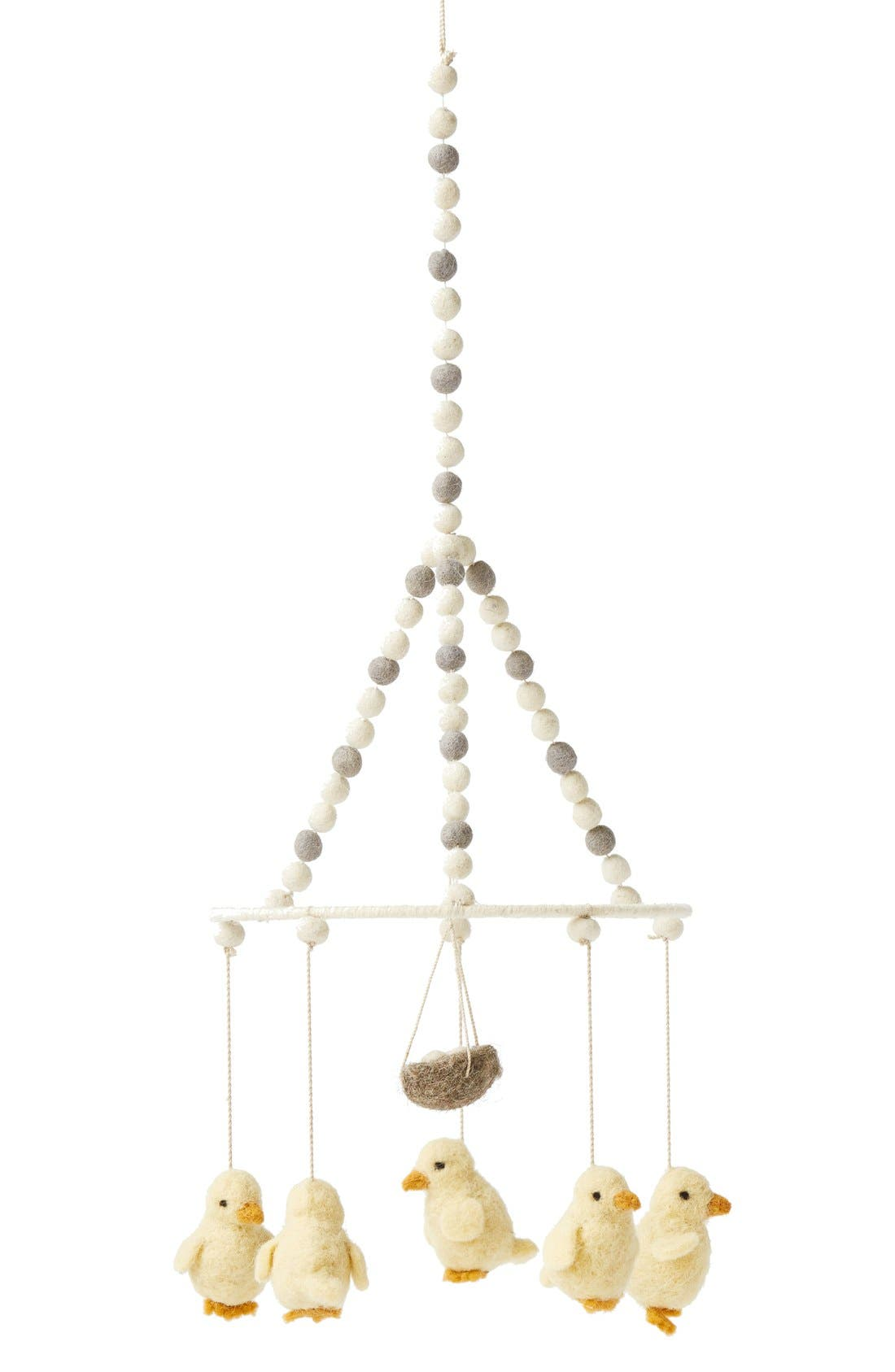 Baby Chick Mobile,                         Main,                         color, Cream