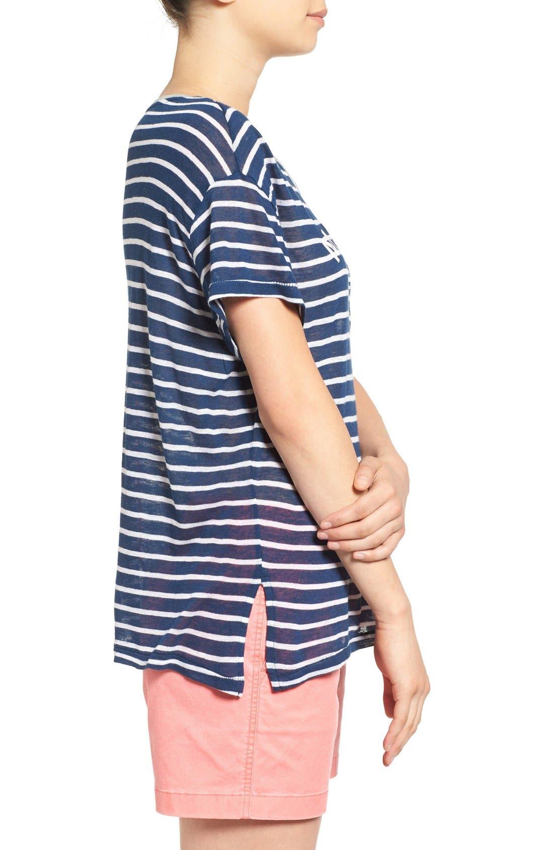 Alternate Image 3  - Sundry 'Mermaid Club' Stripe Tee
