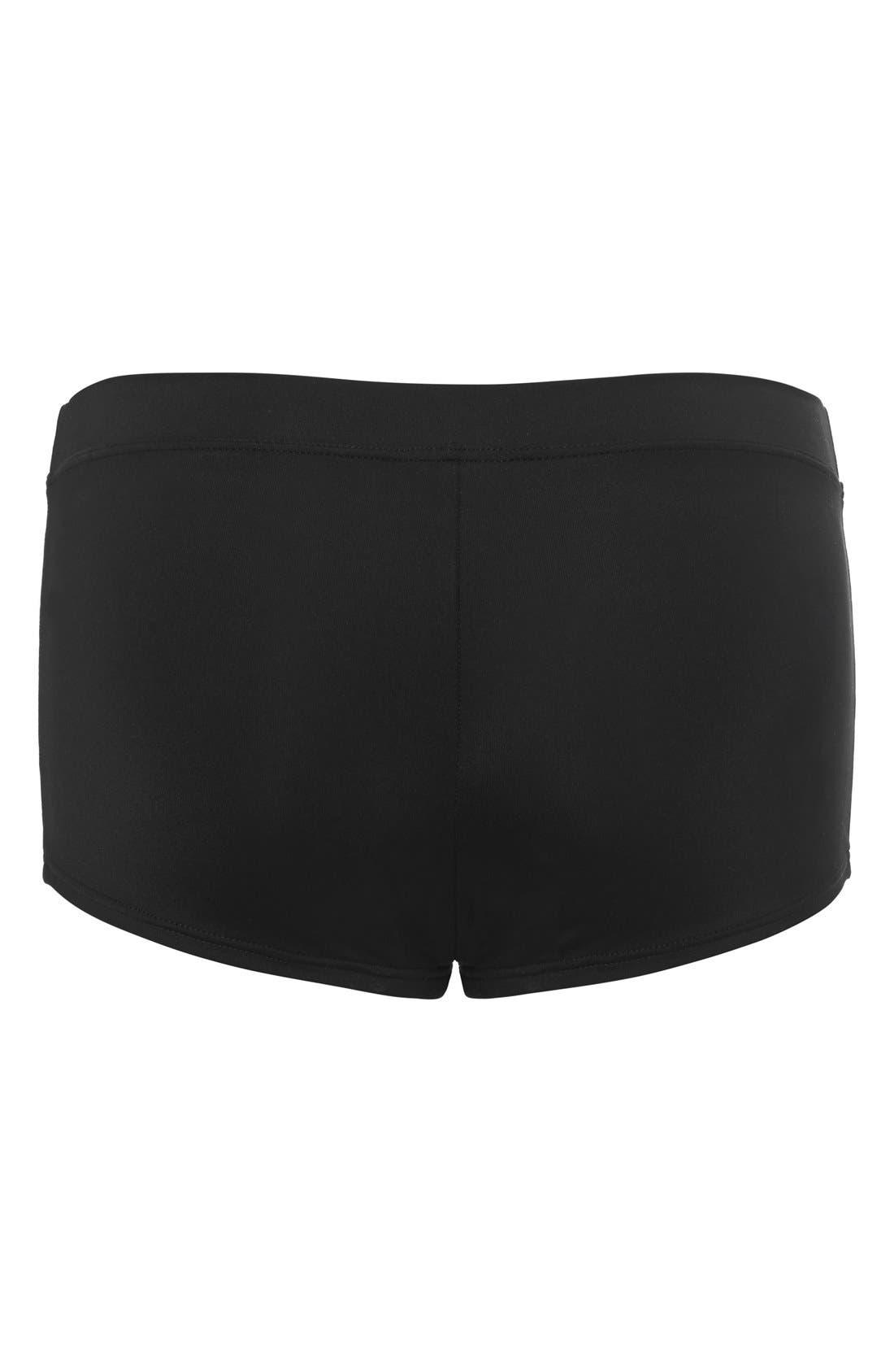 'Saint Tropez' Maternity Boyshort Swim Bottoms,                             Alternate thumbnail 2, color,                             Black