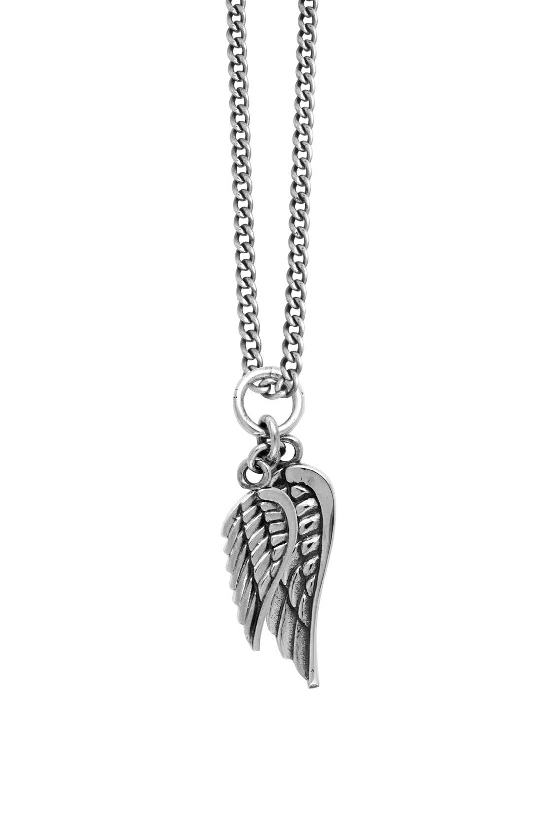 King Baby Sterling Silver Wing Pendant Necklace