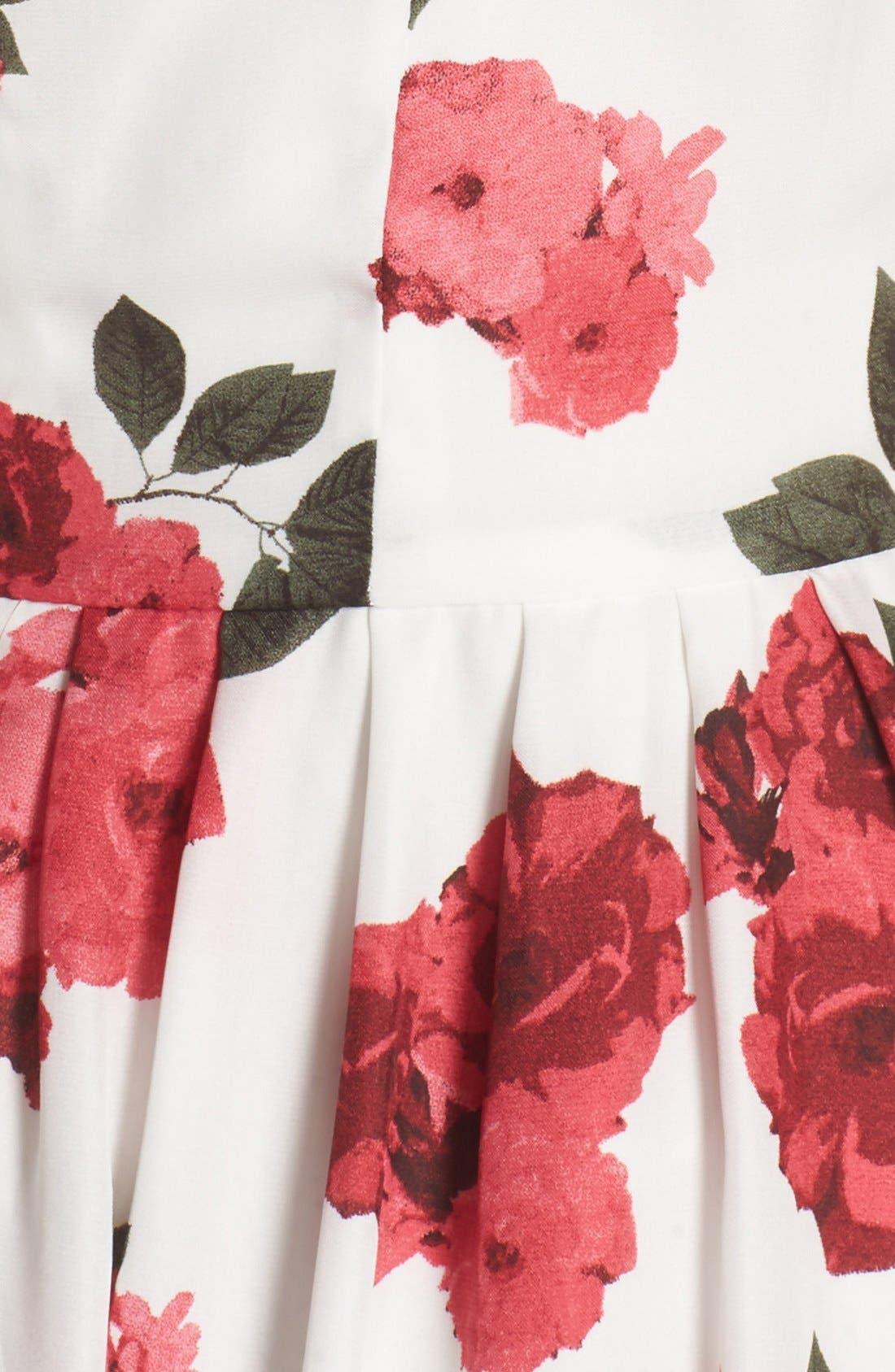 Alternate Image 5  - BB Dakota 'Claudia' Floral Crepe Fit & Flare Dress