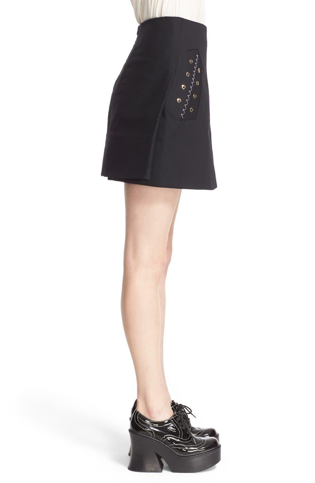 Alternate Image 5  - ELLERY 'Helena' Eyelet Detail Miniskirt