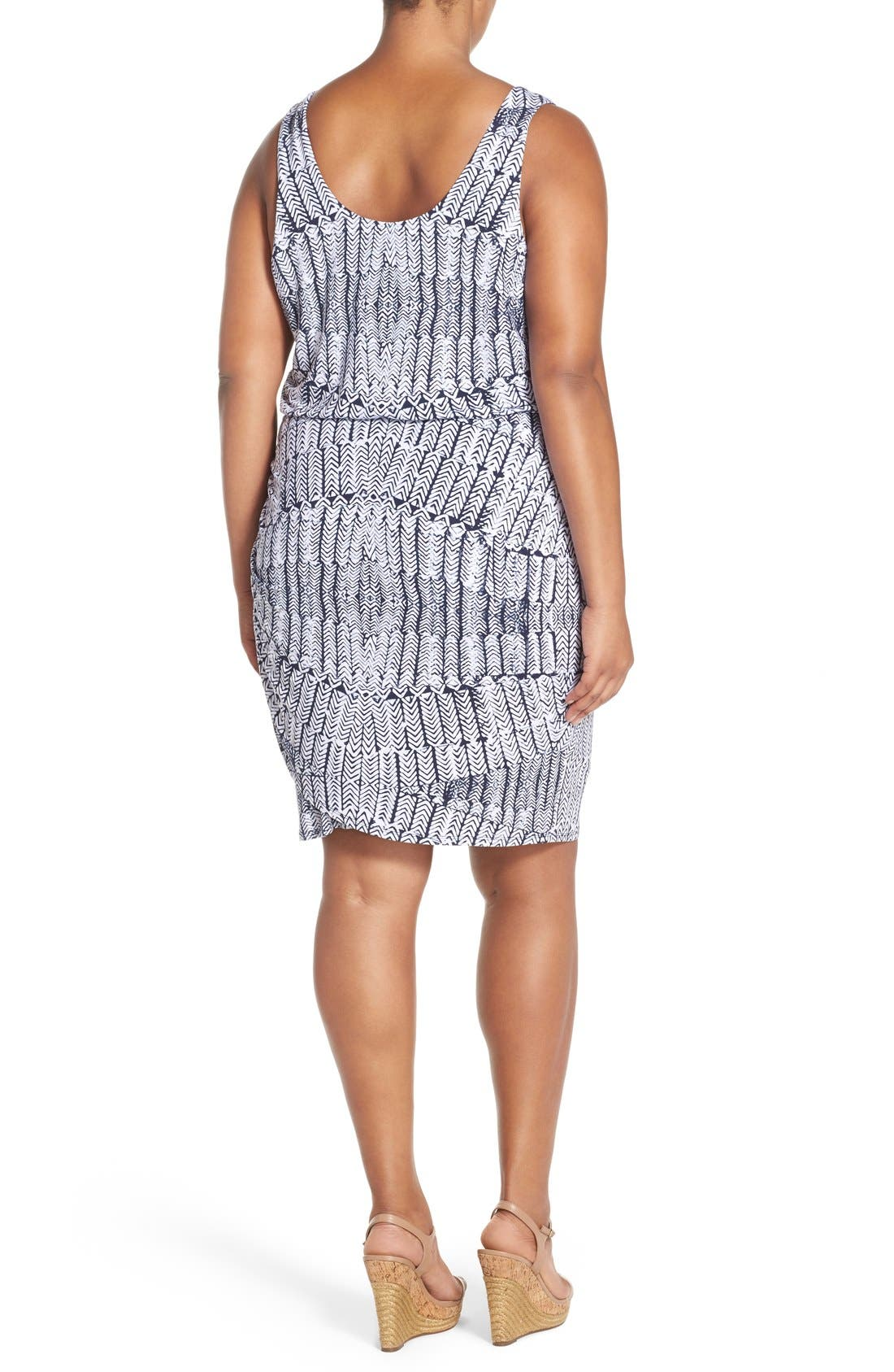 Alternate Image 2  - Tart Jan Print Jersey Sleeveless Blouson Dress (Plus Size)