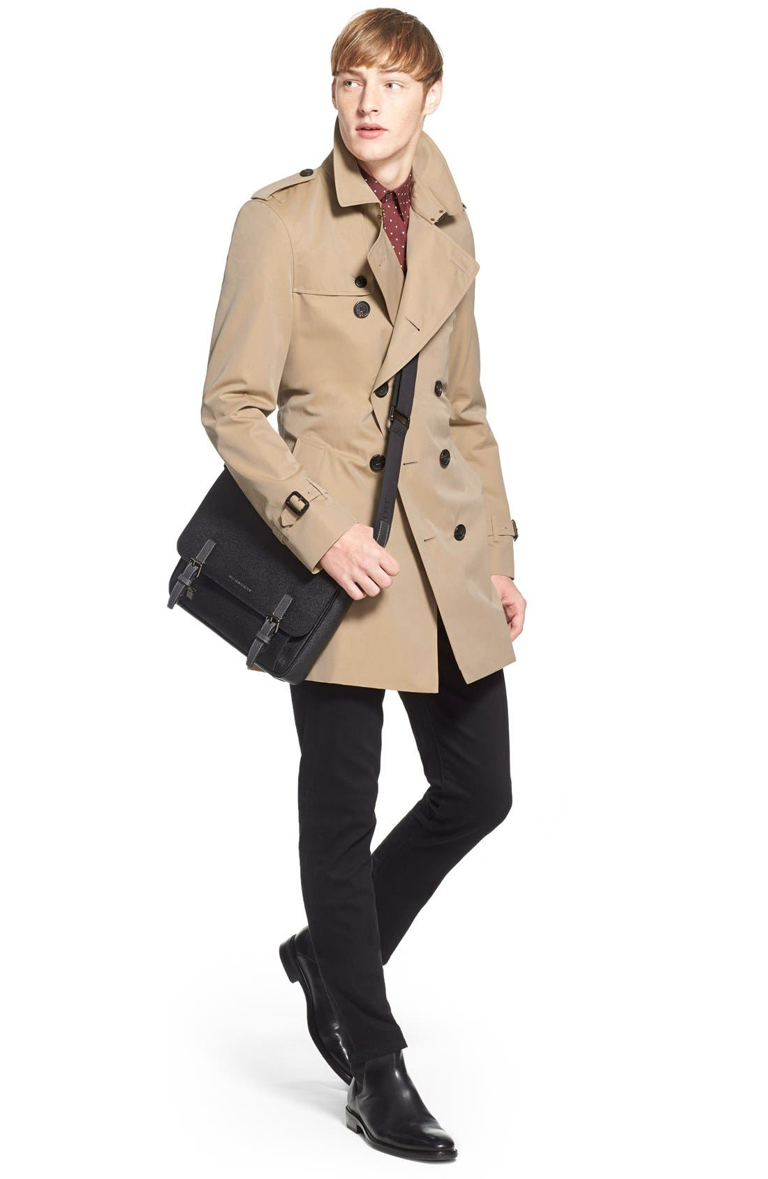 Alternate Image 6  - Burberry Kensington Double Breasted Trench Coat