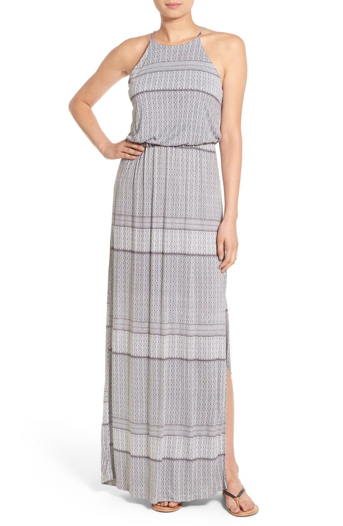 Alternate Image 1 Selected - Lush High Neck Maxi Dress