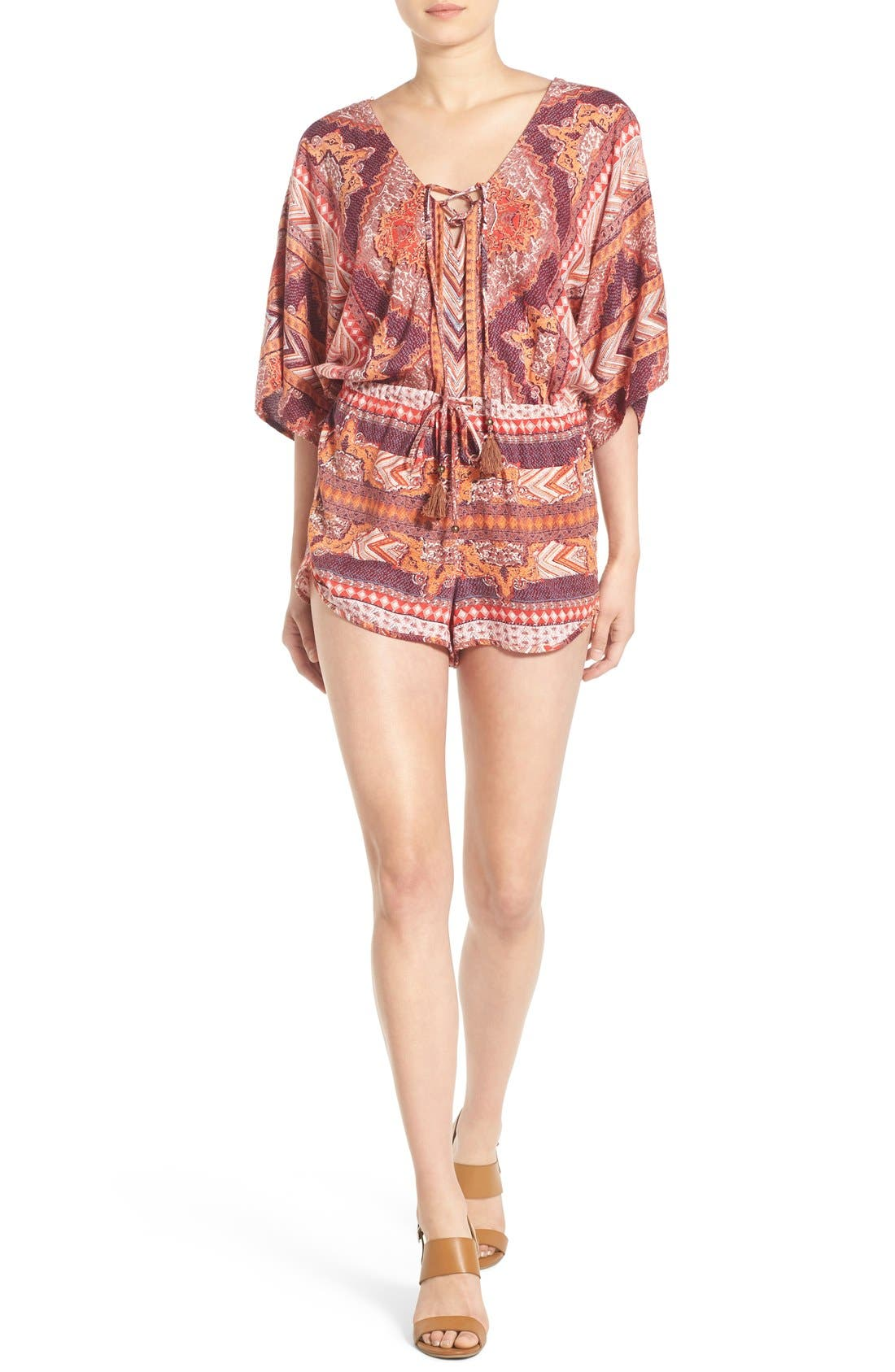 Alternate Image 1 Selected - Angie Kimono Sleeve Romper