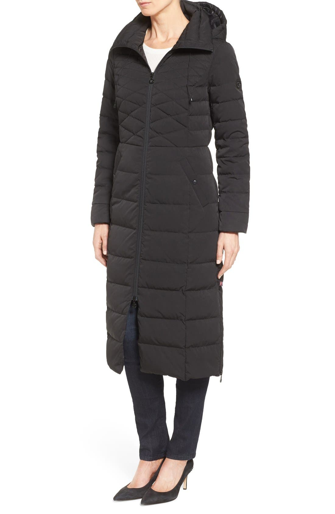 Alternate Image 3  - Bernardo Quilted Long Coat with Down & PrimaLoft® Fill