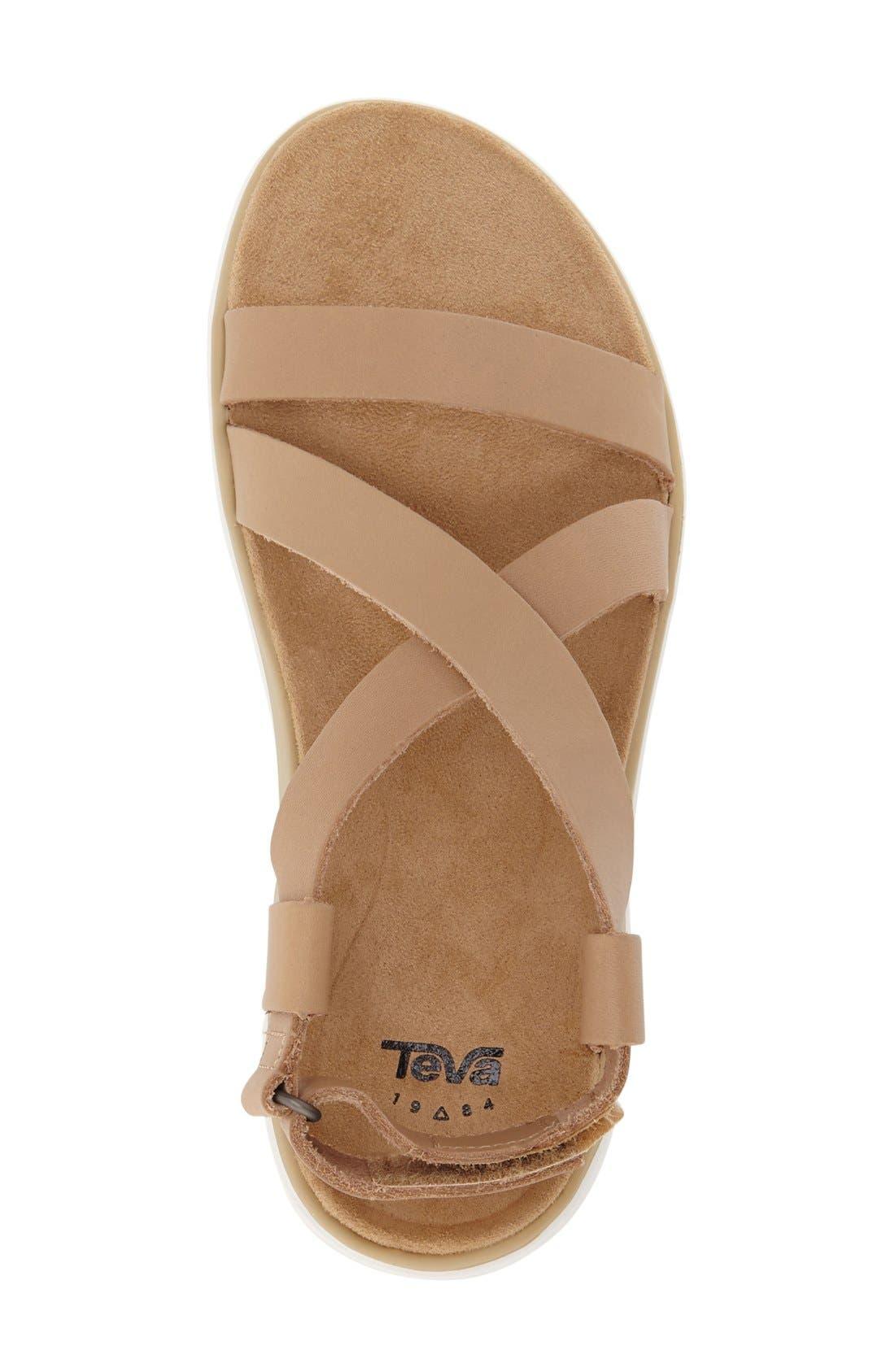 'Terra Float Livia Lux' Sandal,                             Alternate thumbnail 3, color,                             Natural