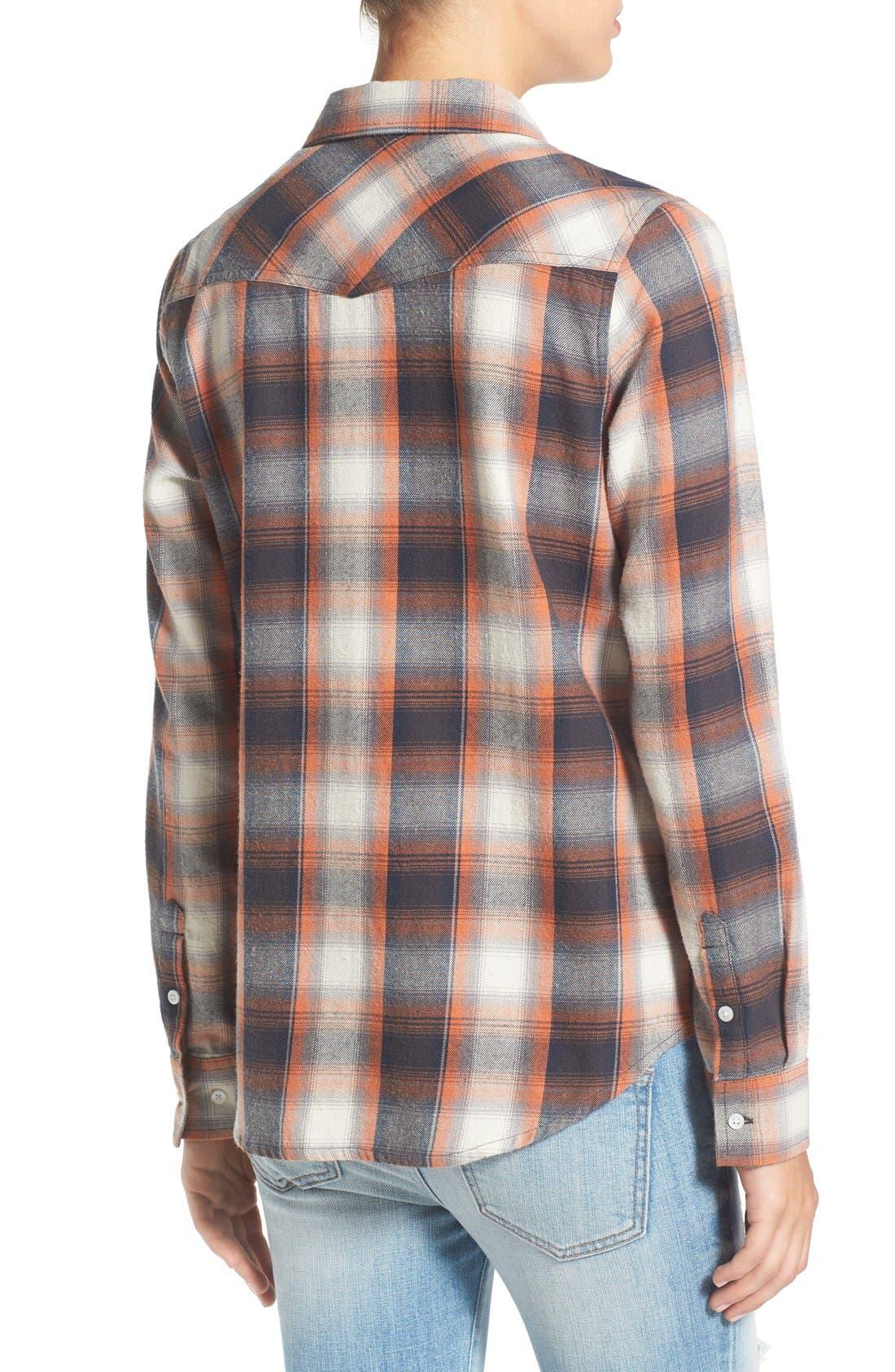 Alternate Image 2  - Rip Curl 'Zarca' Plaid Flannel Shirt