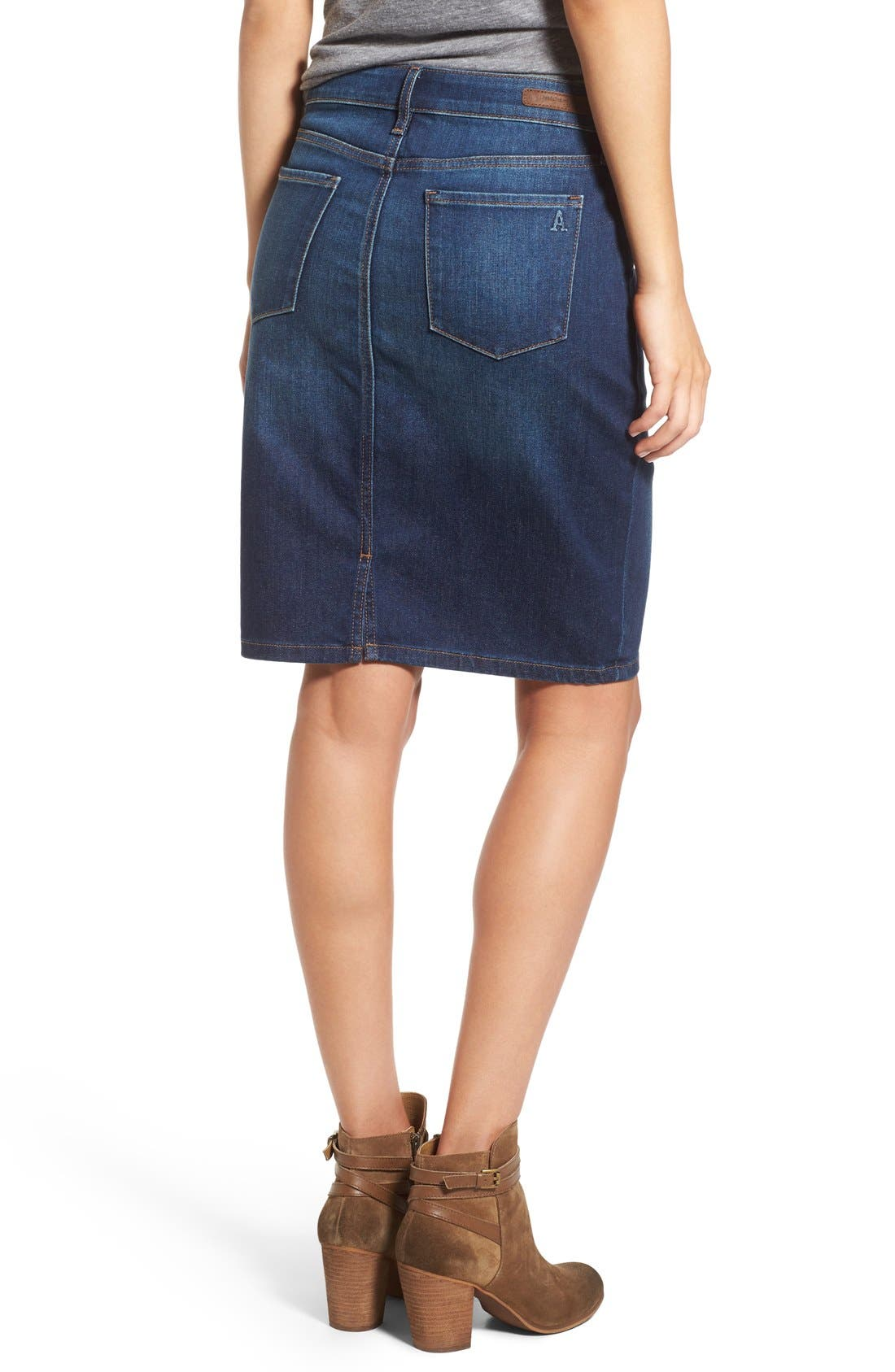 Alternate Image 2  - Articles of Society 'Penny' Denim Pencil Skirt (Del Ray)